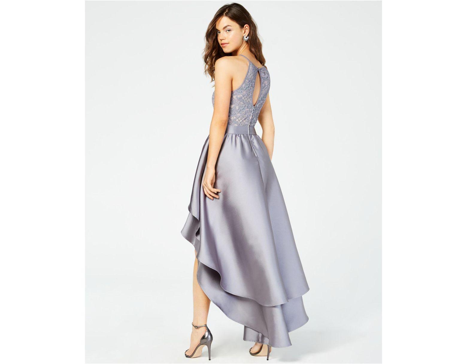 cd77d30d93c Emerald Sundae Juniors  Lace-top Asymmetrical-skirt Gown