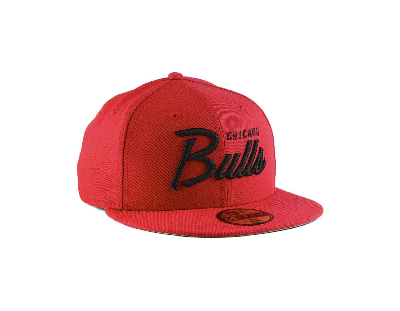 premium selection c53e9 d96c4 KTZ Chicago Bulls Classic Script 59fifty Fitted Cap in Red for Men - Lyst