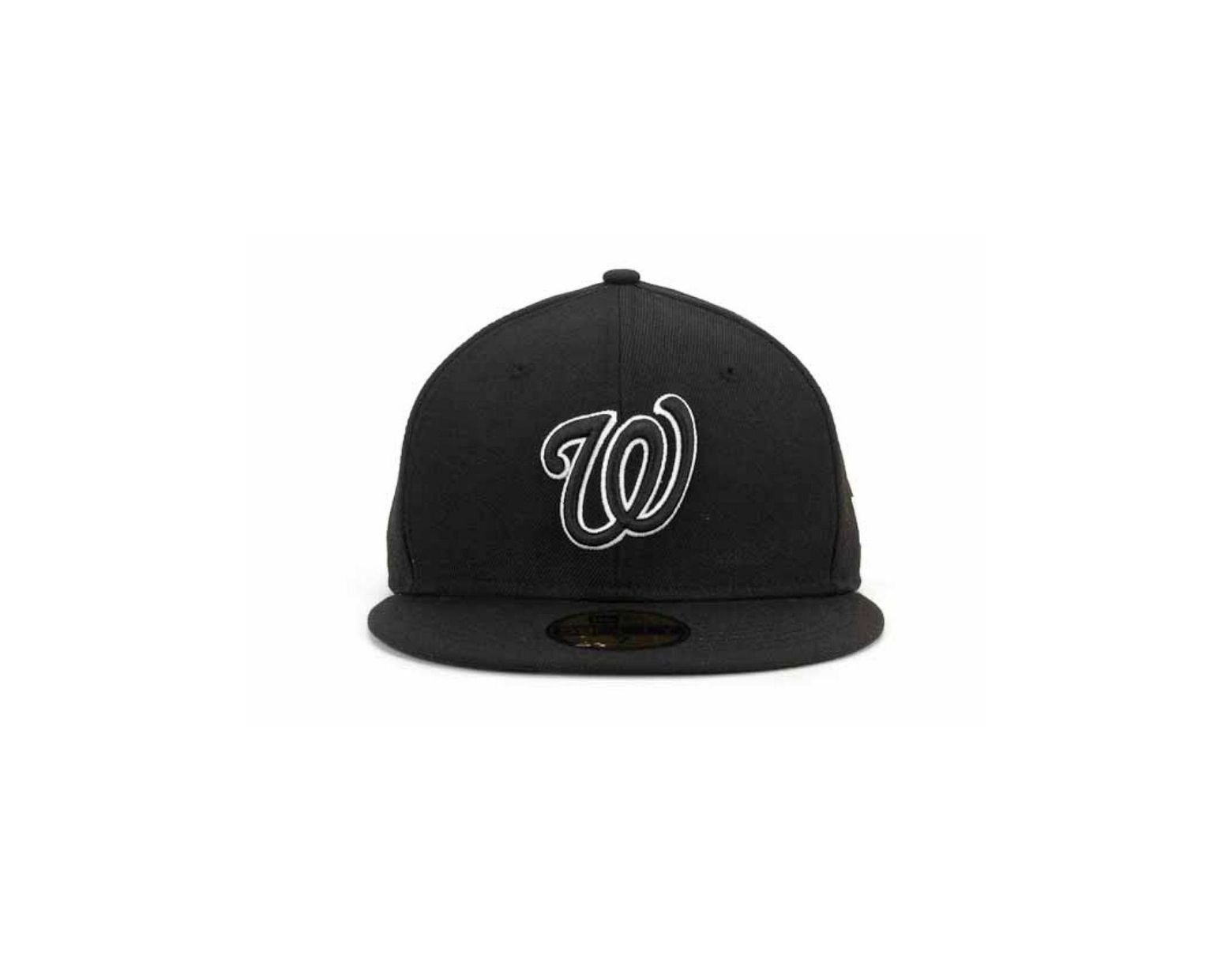 reputable site fb84f 40a74 KTZ Washington Nationals Black And White Fashion 59fifty Cap in Black for  Men - Lyst