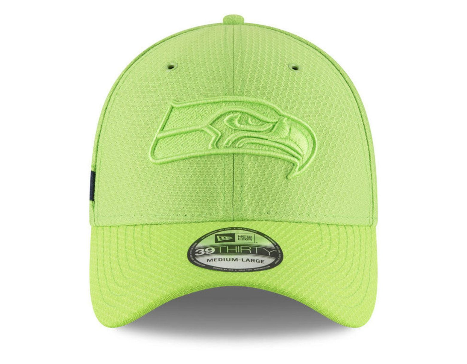 best website 3aa63 3b688 KTZ Seattle Seahawks Official Color Rush 39thirty Stretch Fitted Cap in  Green for Men - Lyst