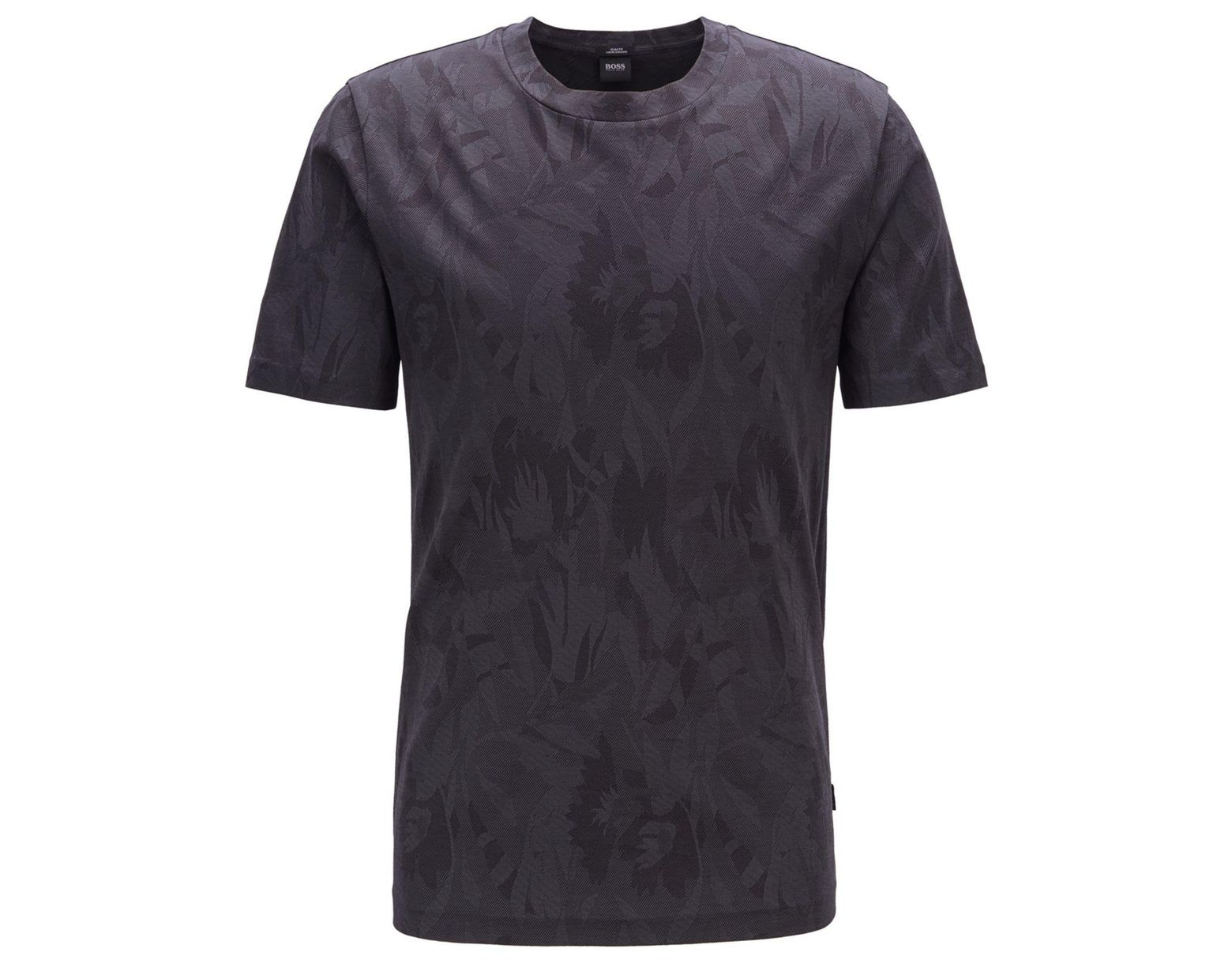6931ab3c BOSS Tessler 121 Slim-fit Cotton Jacquard T-shirt in Black for Men - Lyst
