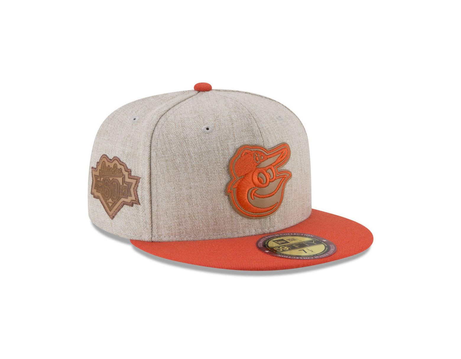 best website c3090 862a9 KTZ Baltimore Orioles Leather Ultimate Patch Collection 59fifty Fitted Cap  for Men - Lyst