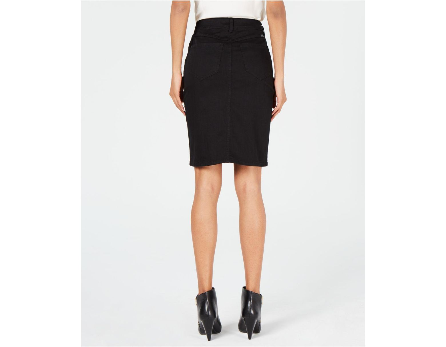 3b20de363 INC International Concepts I.n.c. Button-front Jean Skirt, Created For  Macy's in Black - Lyst