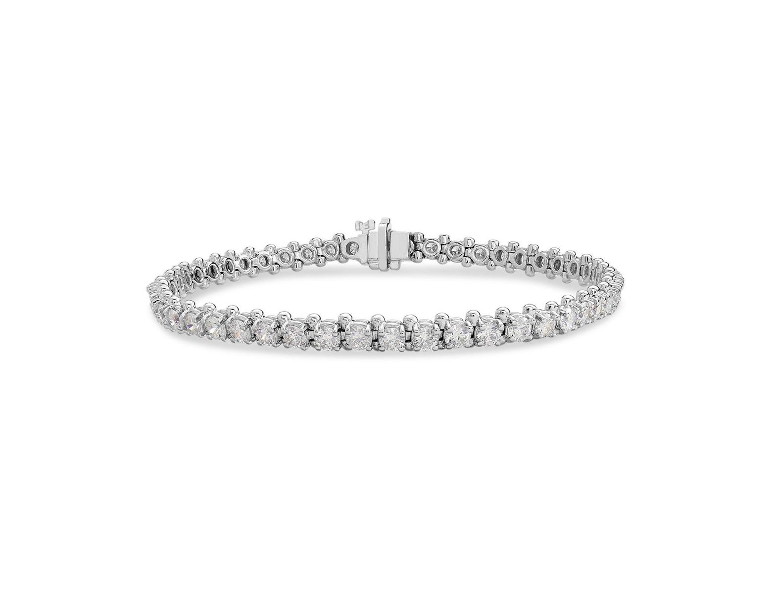 Macy S Diamond Tennis Bracelet 5 Ct T W In 14k White