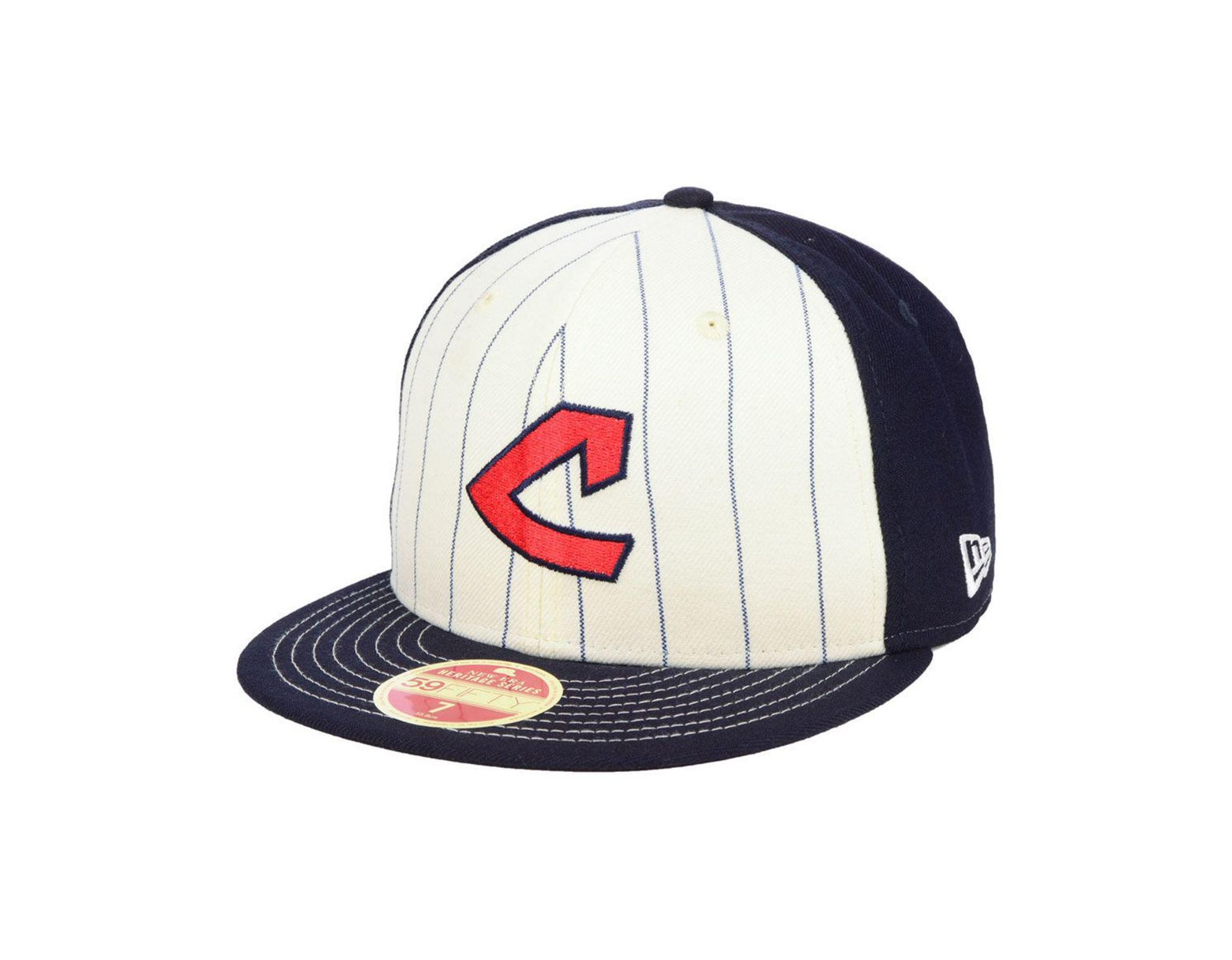 quality design f5e4f 1fc05 KTZ Cleveland Indians Vintage Front 59fifty Fitted Cap in Blue for Men -  Lyst
