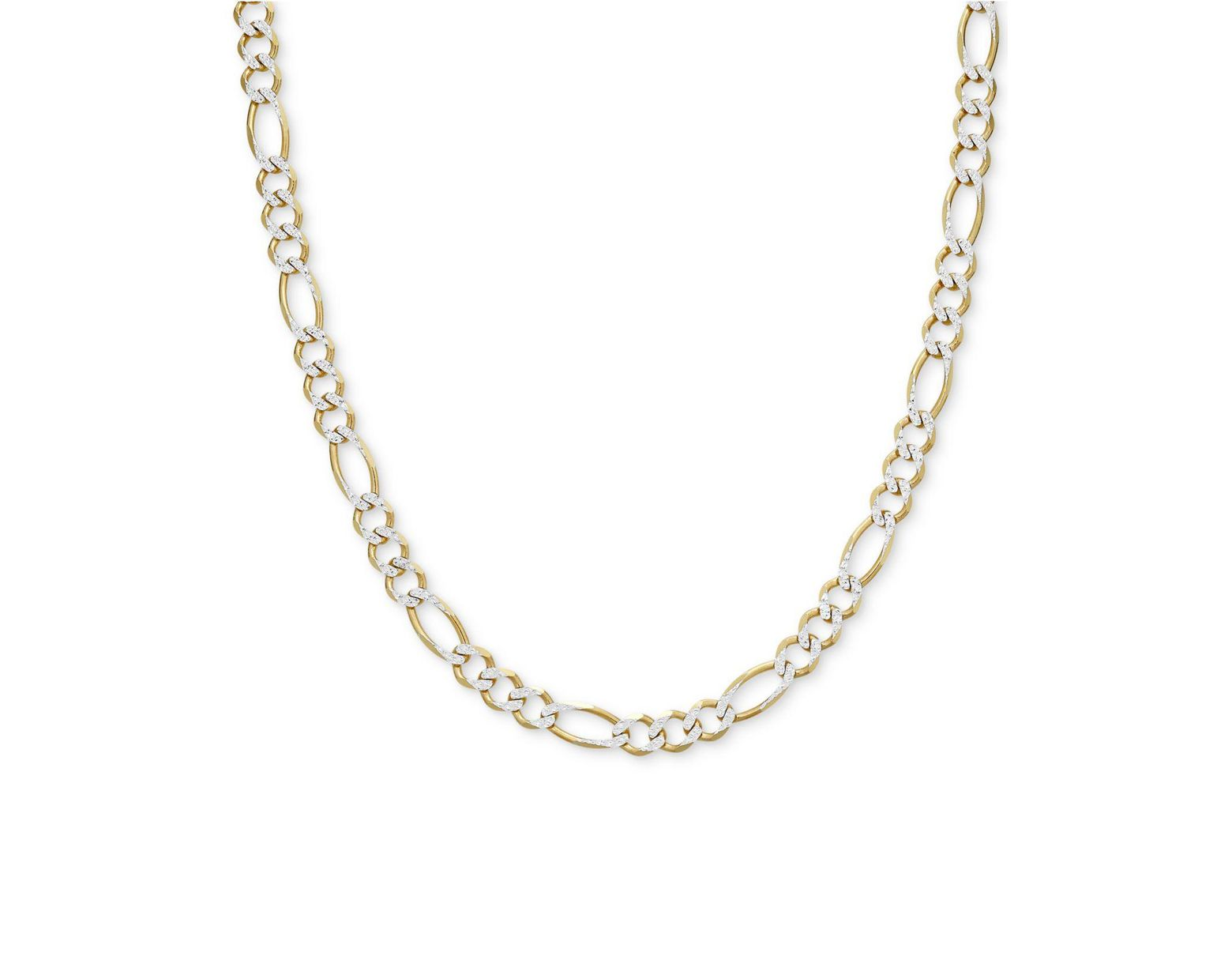 542d3456d Macy's Two-tone Figaro Link Chain 24