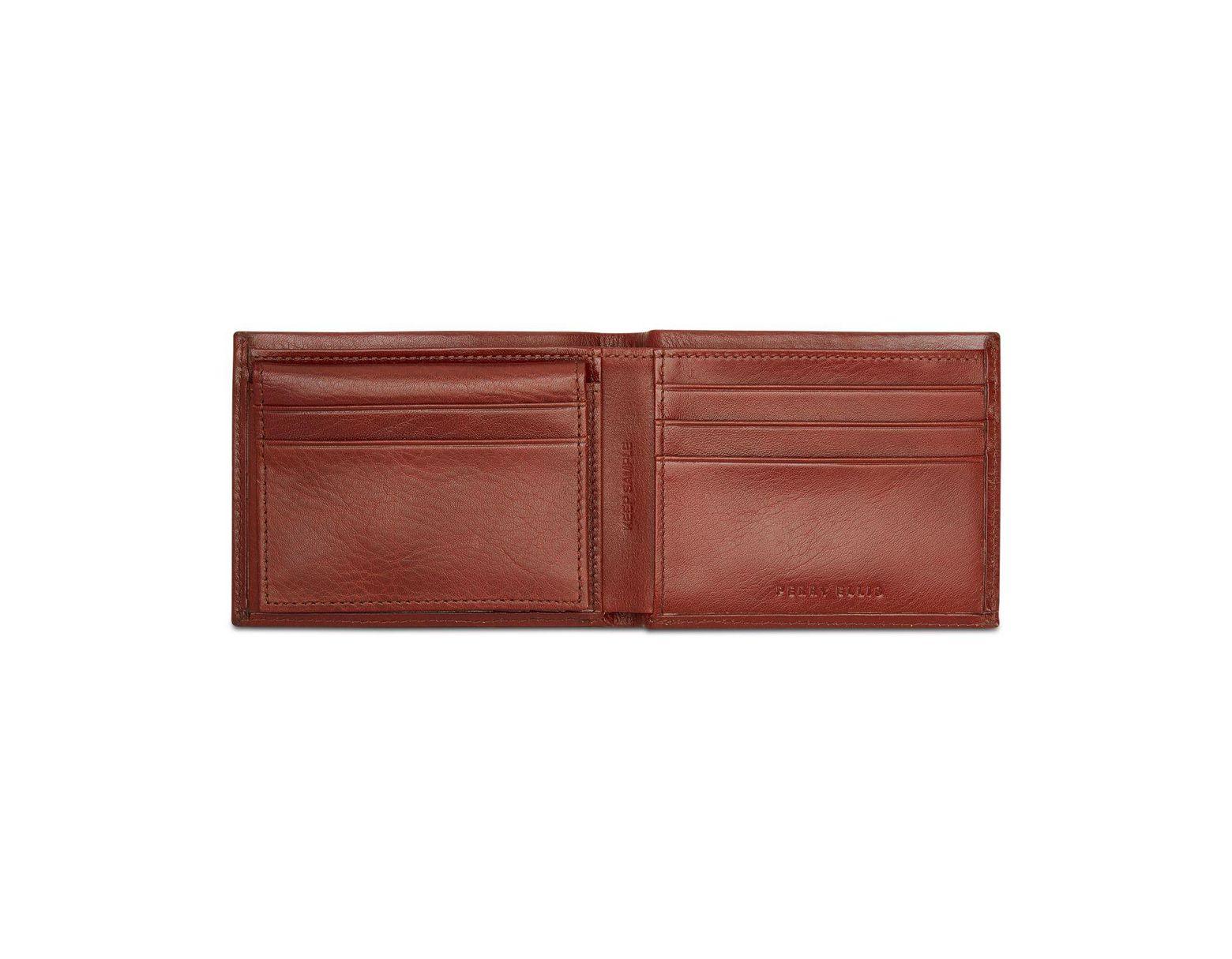 9508e93e9290 Perry Ellis Portfolio Leather Passcase & Removable Card Case for Men ...