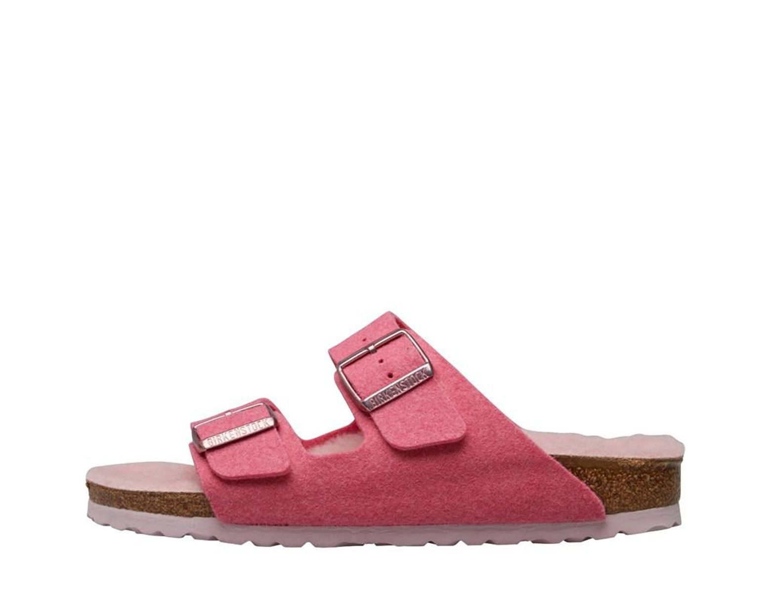 616633f6ed40d0 Birkenstock Damen Arizona Wz Wool Felt Happy Lamb Sandalen Rosa in Pink -  Lyst