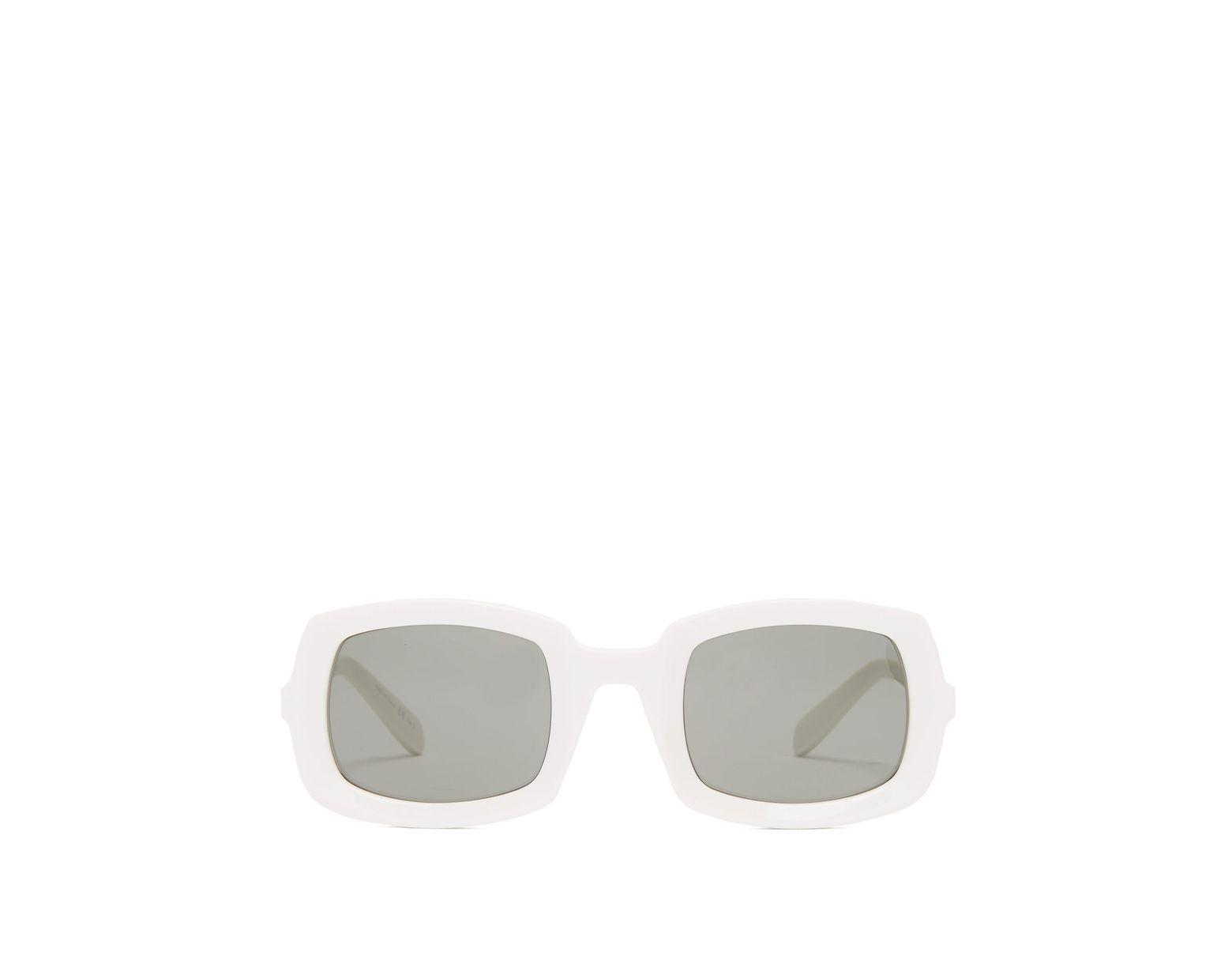 5c4f97f633 Lunettes de soleil en acétate à monture épaisse Saint Laurent en coloris  Blanc - Lyst