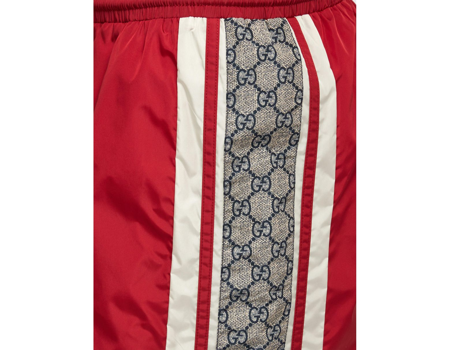 7ce95f2501 Gucci Red GG Swim Shorts in Red for Men - Save 6% - Lyst