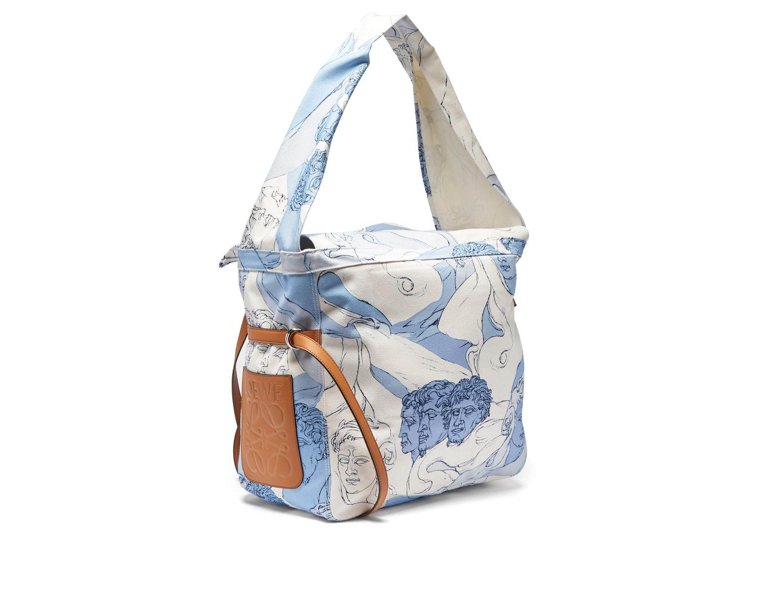b5308f007b Loewe Faces Print Canvas Messenger Bag in Blue - Lyst