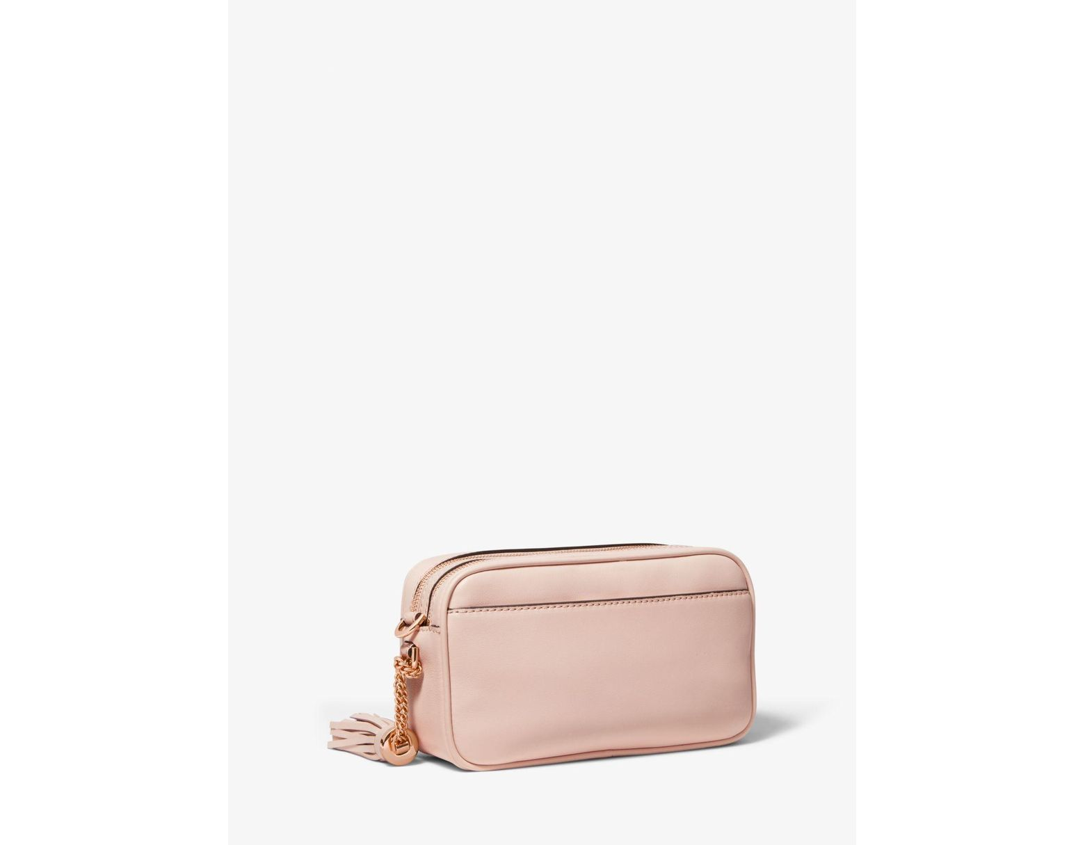 1dd75d445 Michael Kors Small Rose Studded Leather Camera Bag in Pink - Save 31% - Lyst