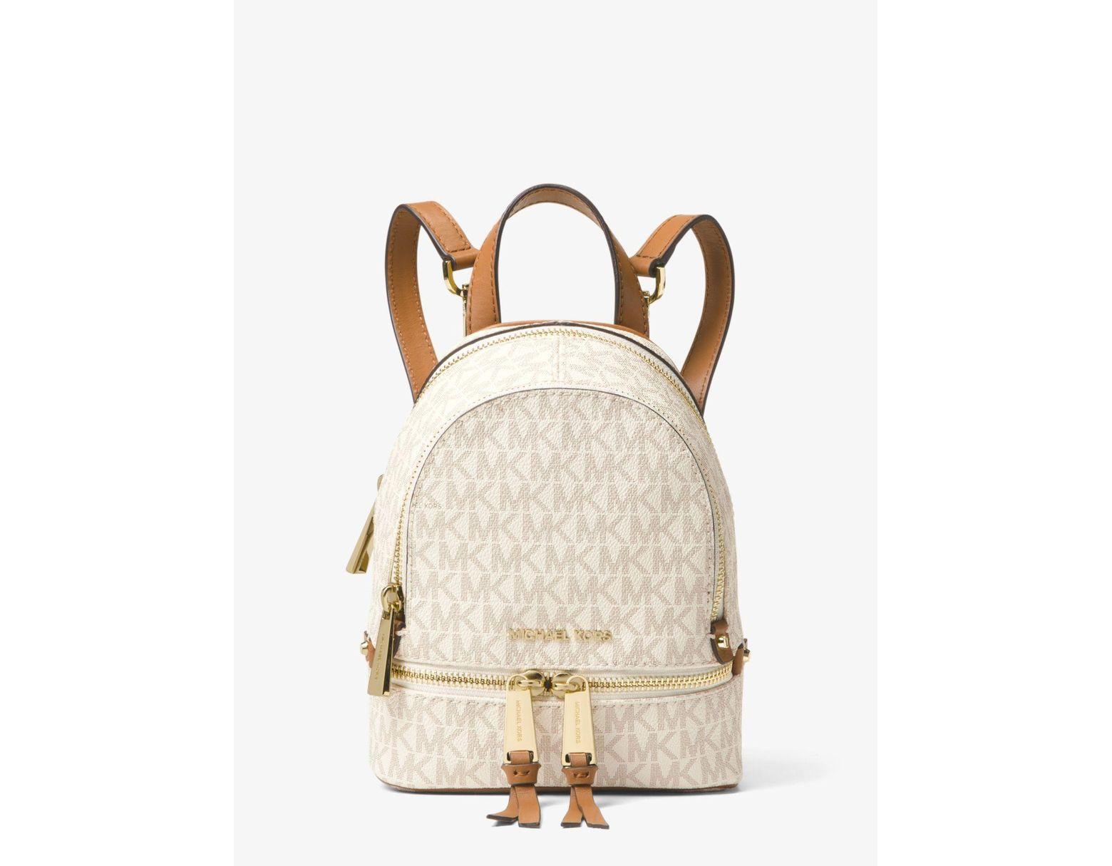 bbfc6a7f383 Michael Kors Rhea Mini Logo Backpack - Lyst