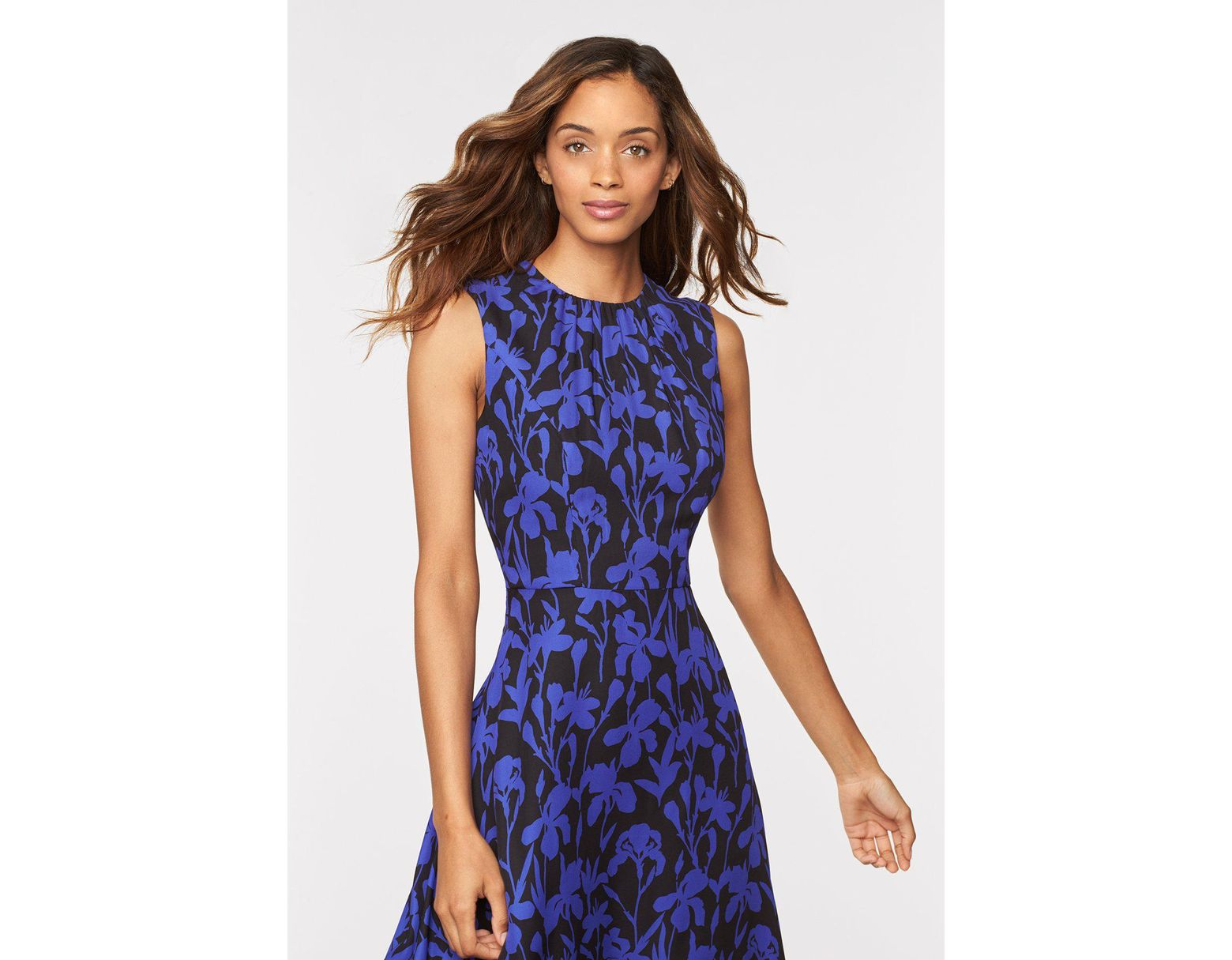 52be6386f019ec MILLY Iris Print Anna Dress in Blue - Save 67% - Lyst