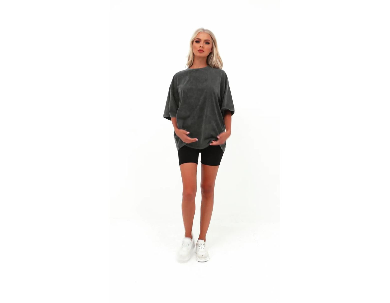 bf804a9e76274 Lyst - Missguided Grey Drop Shoulder Oversized Washed Top in Gray