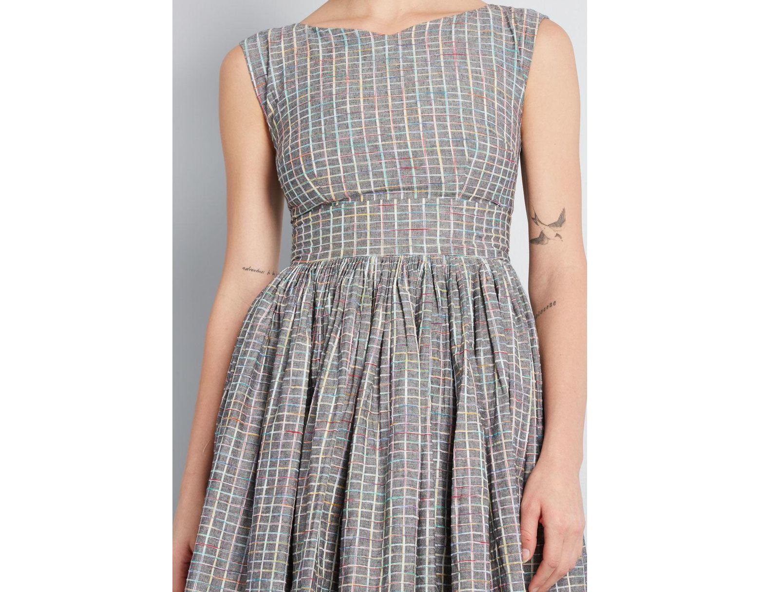 fe55c4e0c0a5 ModCloth Fabulous Fit And Flare Dress With Pockets in Gray - Save 30% - Lyst