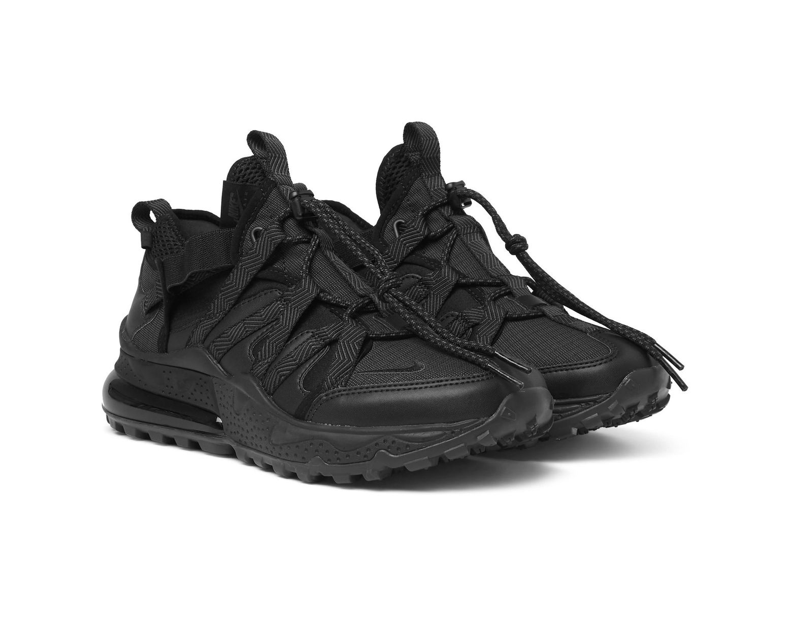 best website 985d1 acb68 Nike Air Max 270 Bowfin Ripstop, Mesh And Faux Leather Sneakers in Black  for Men - Lyst