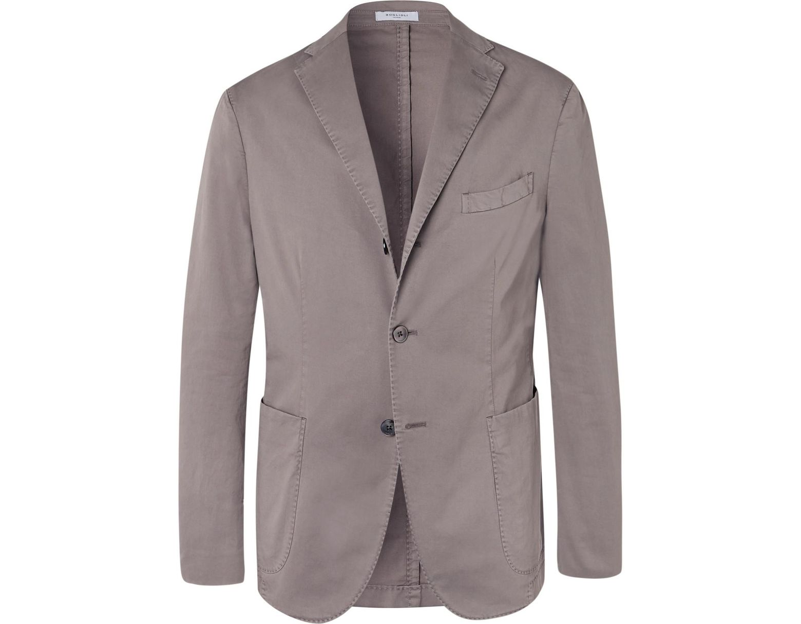 7bd38f361 Boglioli Stone K-jacket Slim-fit Unstructured Stretch-cotton Twill Suit  Jacket for Men - Lyst