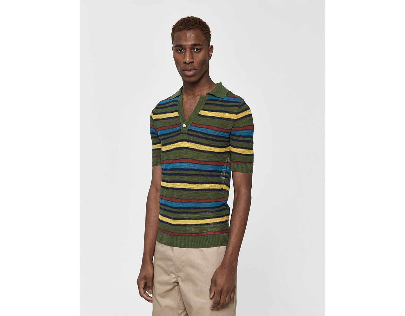 2bc37396e51798 Jacquemus Striped Knitted Cotton Blend Polo Shirt for Men - Save 70% - Lyst
