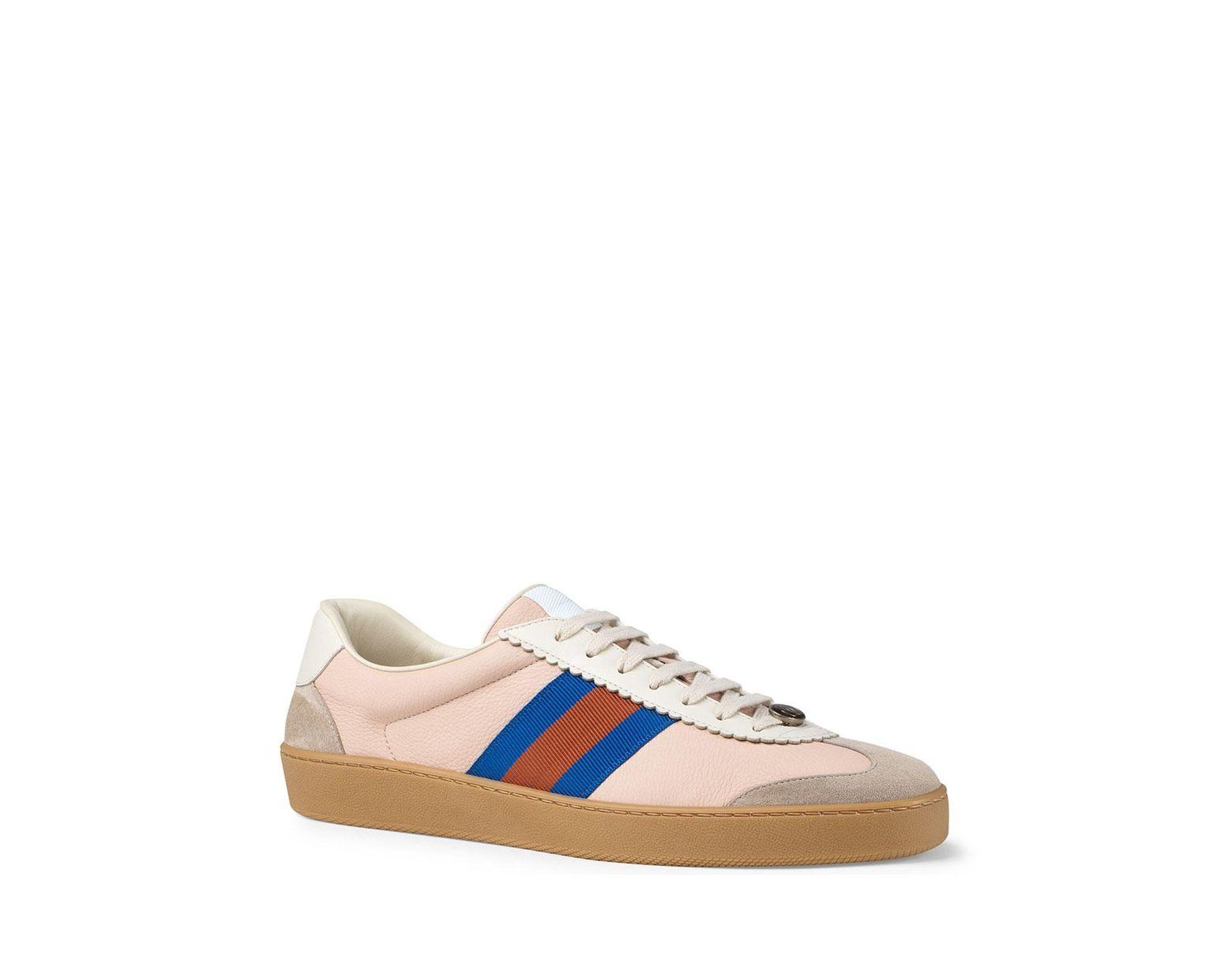 e1ed1e8881a Lyst - Gucci Jbg Retro Calf Sneaker in Pink for Men