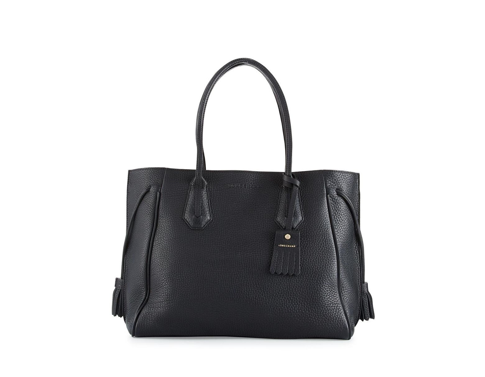 5e2b07c03a Longchamp Penelope Large Leather Tote Bag in Black - Save 12% - Lyst