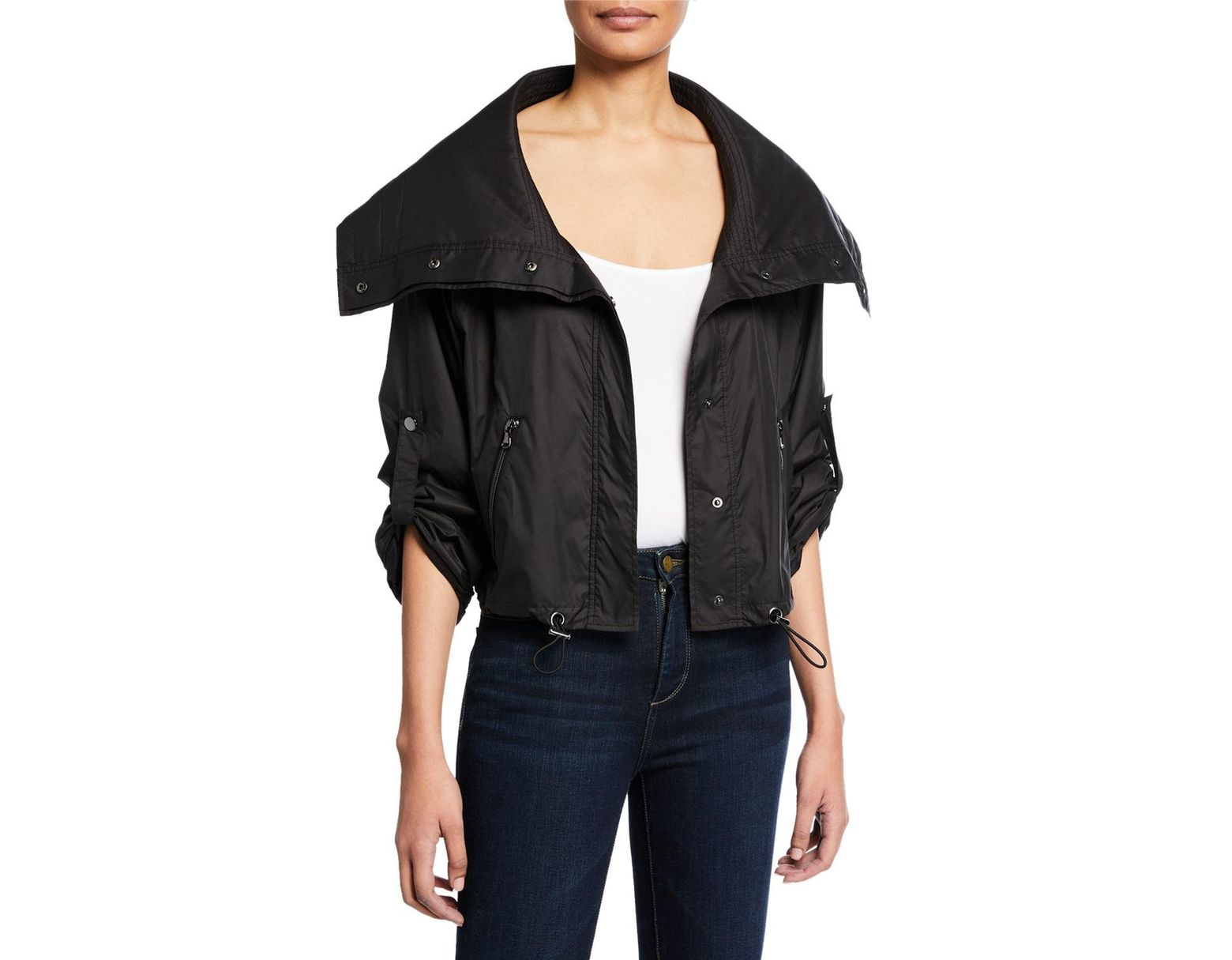 8f87778d Anatomie Casey Metallic Cropped Jacket in Black - Save 45% - Lyst