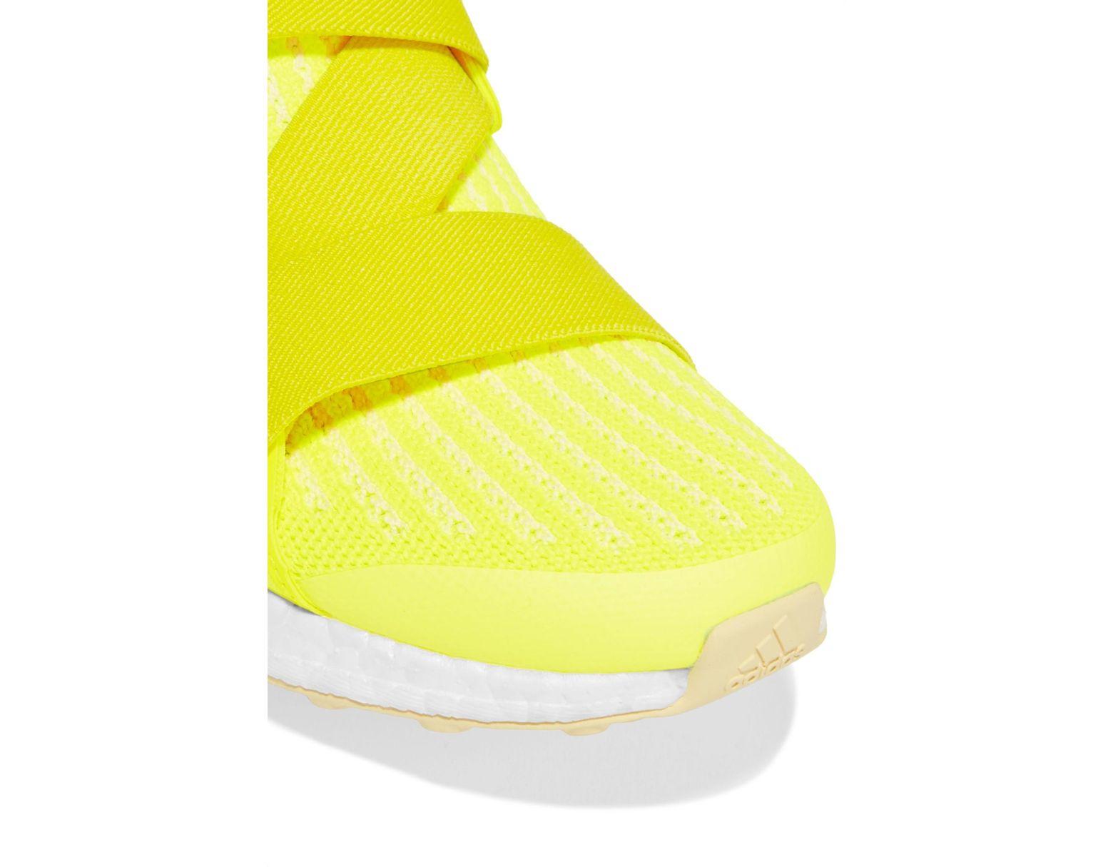 huge selection of 89ac8 3570a Lyst - adidas By Stella McCartney Ultraboost X Neon Primeknit Sneakers in  Yellow
