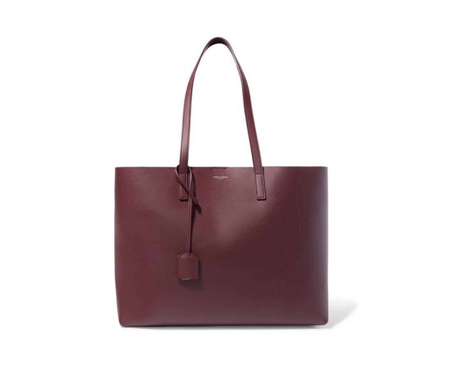 2c2220de669 Saint Laurent Shopper Large Textured-leather Tote in Purple - Save 30% -  Lyst