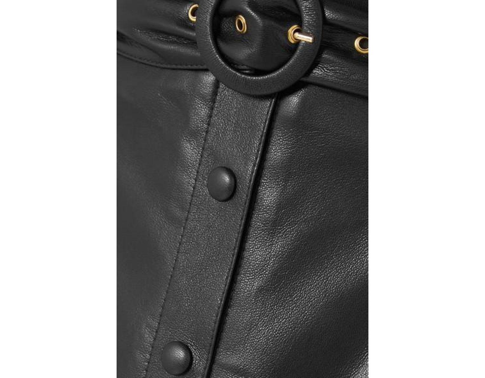 1d3e18cc8f Nanushka Ayona Belted Vegan Leather Maxi Skirt in Black - Lyst