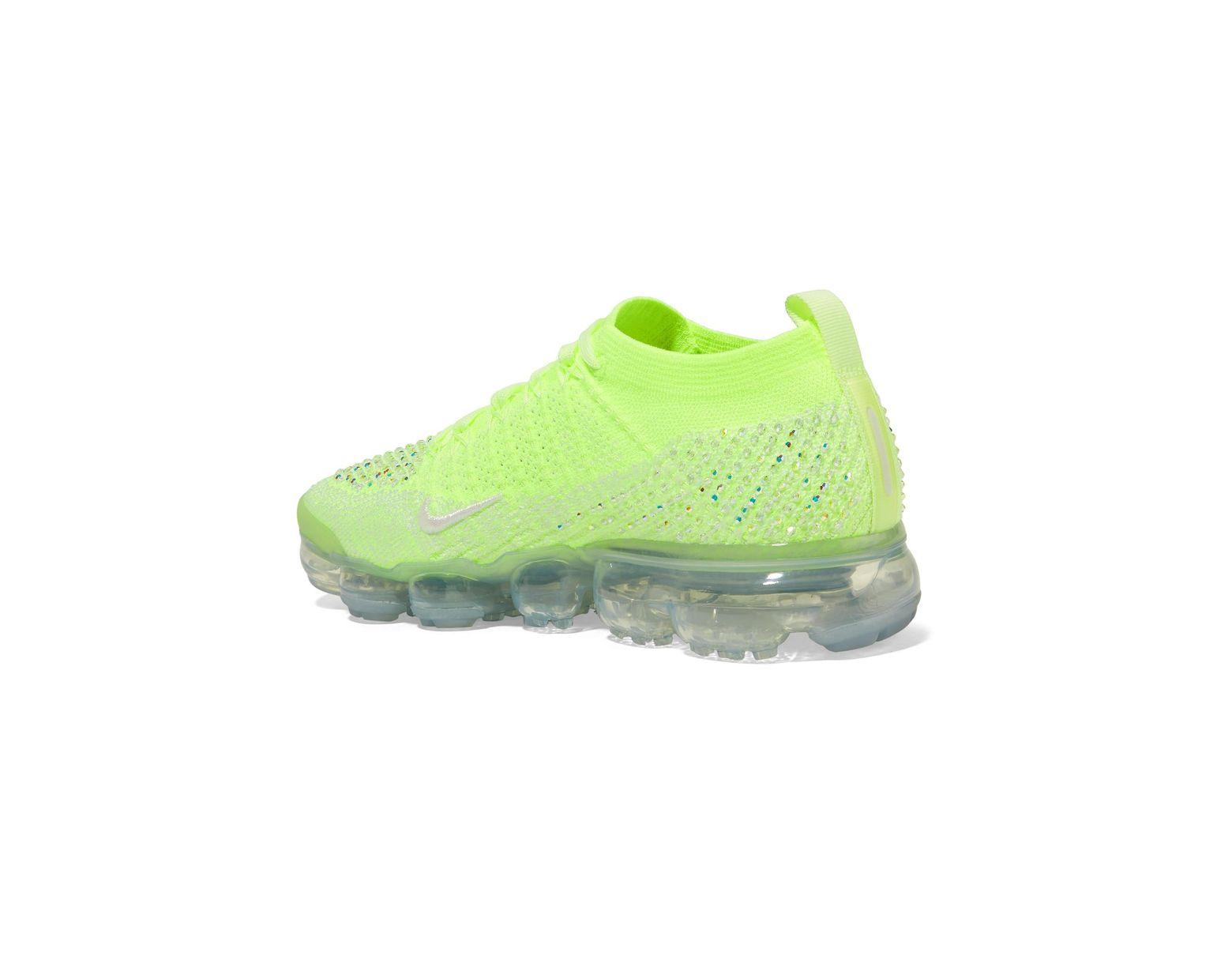 72069fa6d038 Lyst - Nike Air Vapormax 2 Swarovski Crystal-embellished Flyknit Sneakers  in Green