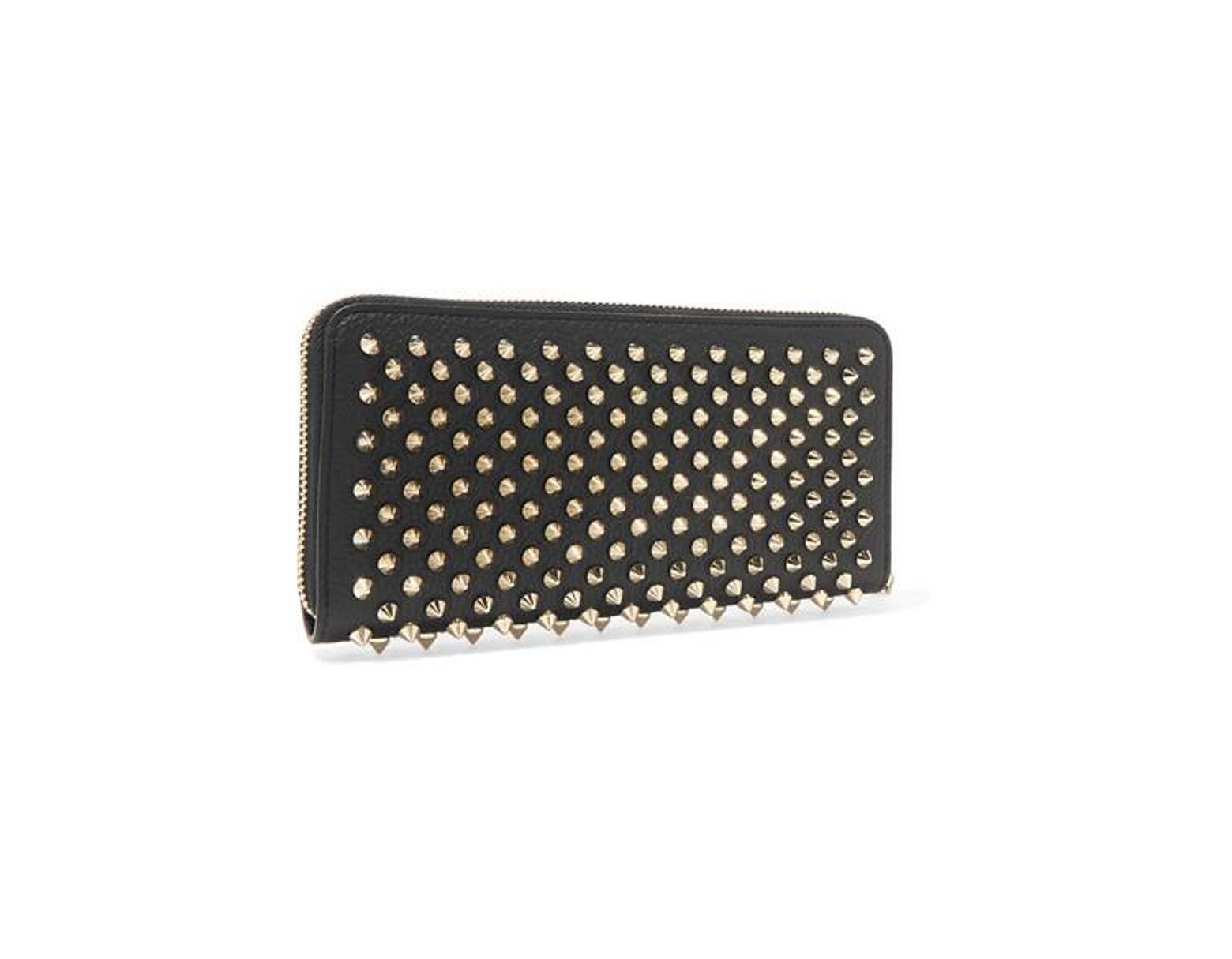 2785e95e006 Christian Louboutin Panettone Spiked Textured-leather Wallet in ...
