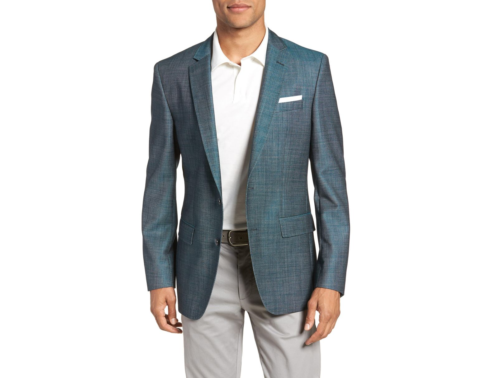 3bd1e86d7 BOSS Hutsons Slim Fit Sport Coat in Green for Men - Lyst