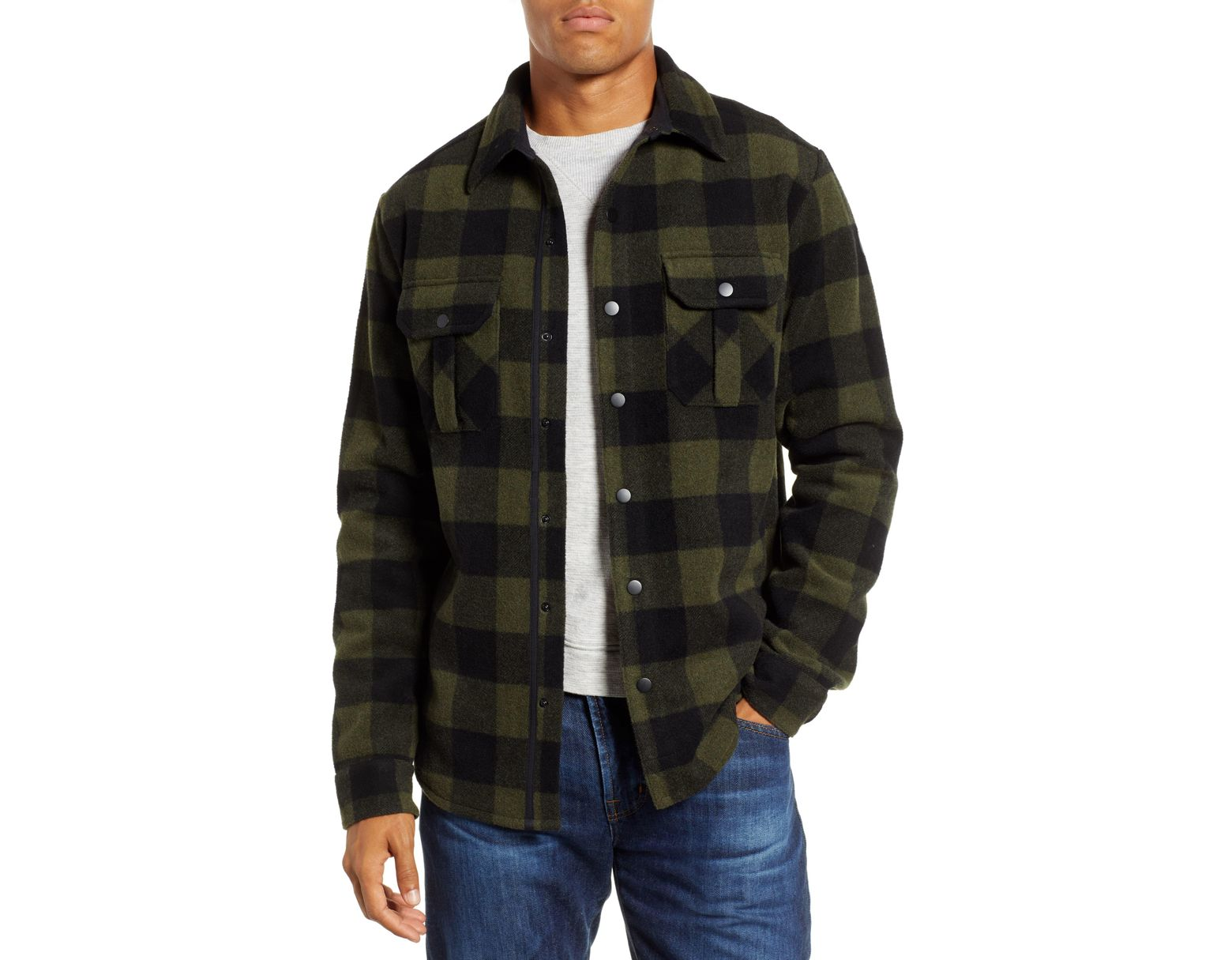 c4a72ce01c1a Smartwool Anchor Line Flannel Shirt Jacket in Green for Men - Lyst