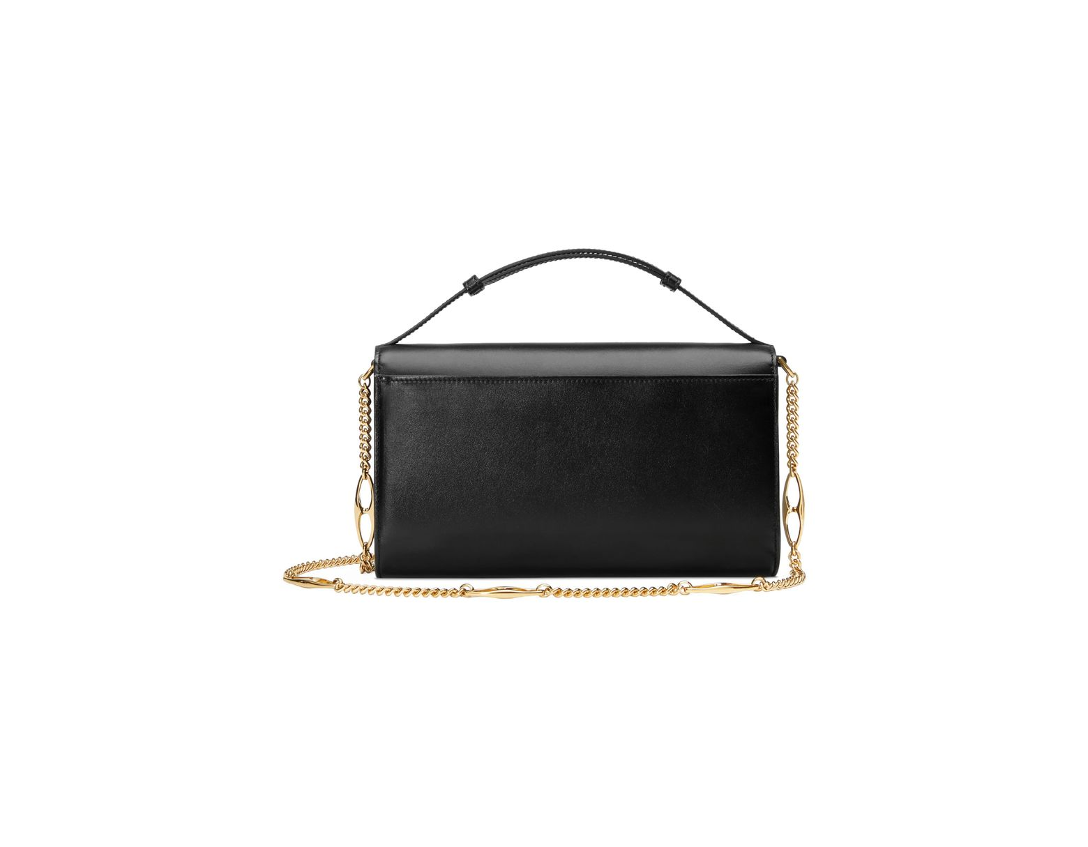 1f40d33bac75 Gucci Zumi Smooth Leather Small Shoulder Bag in Black - Lyst