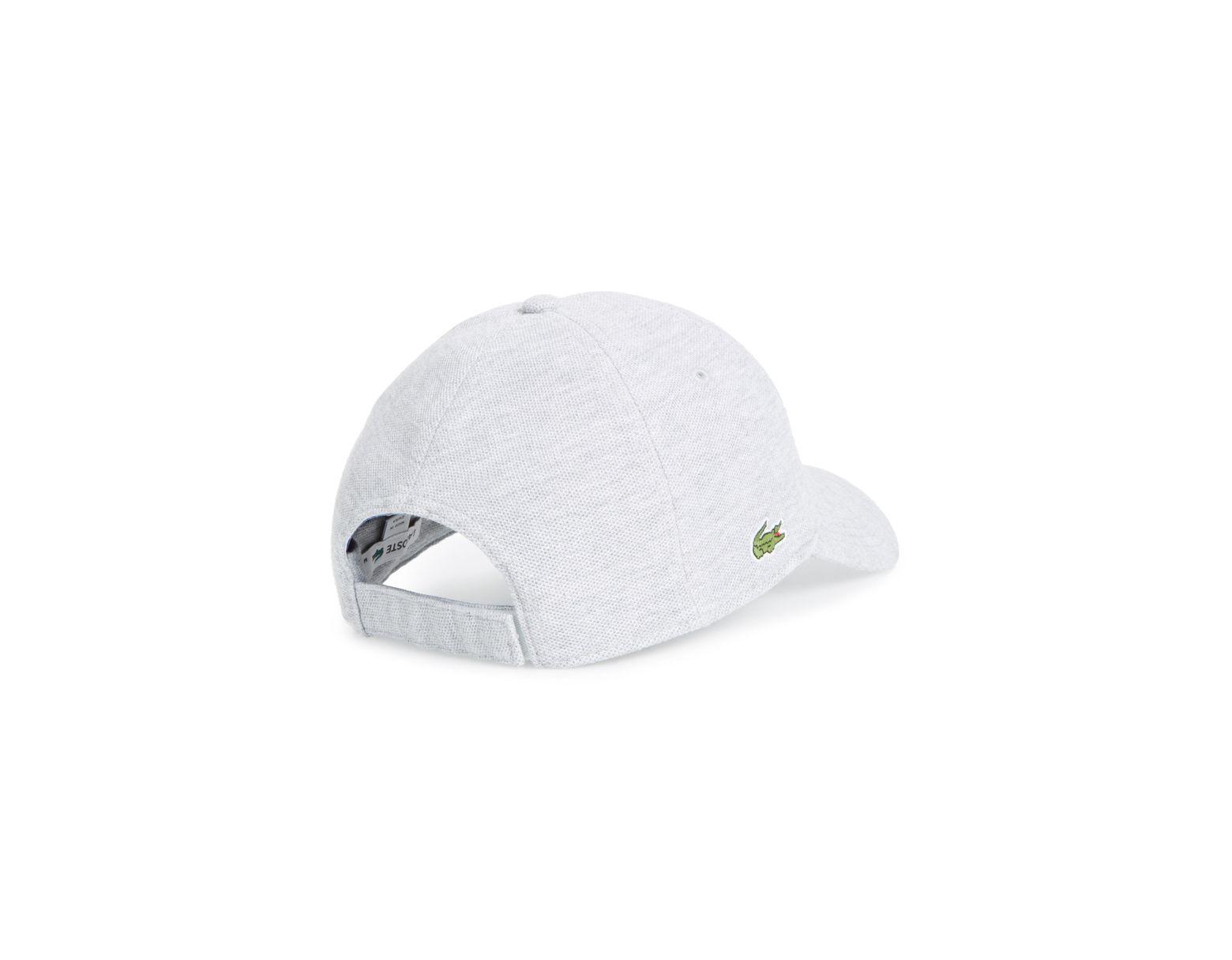 8cbbe7c30255c3 Lyst - Lacoste Croc Cotton Baseball Cap in White for Men