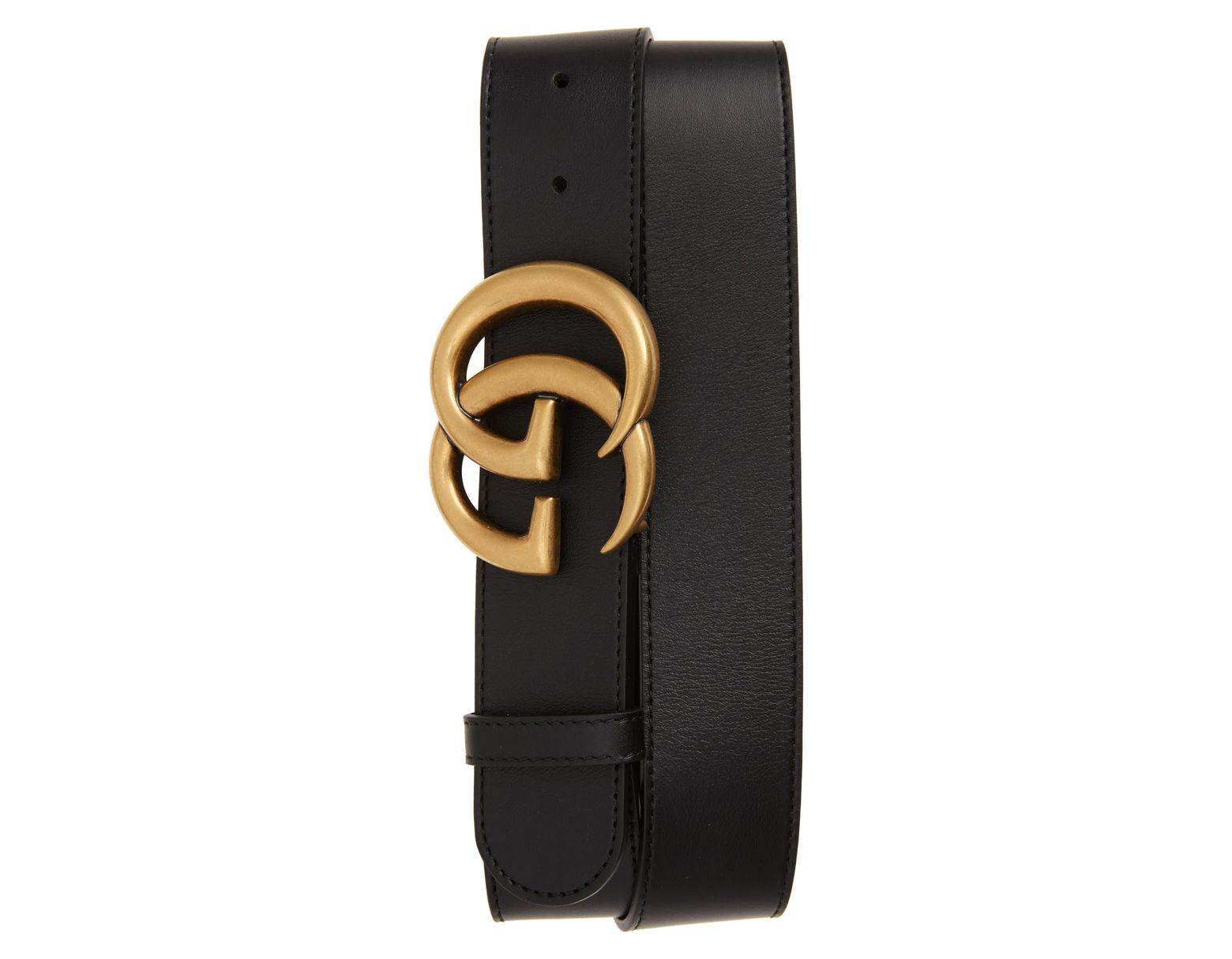 f559c4811 Gucci Cintura Donna Leather Belt in Black - Lyst