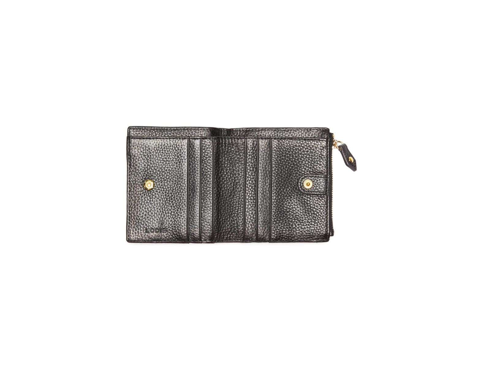 4db2c950d6 Lodis Colleen French Leather Wallet in Black - Lyst