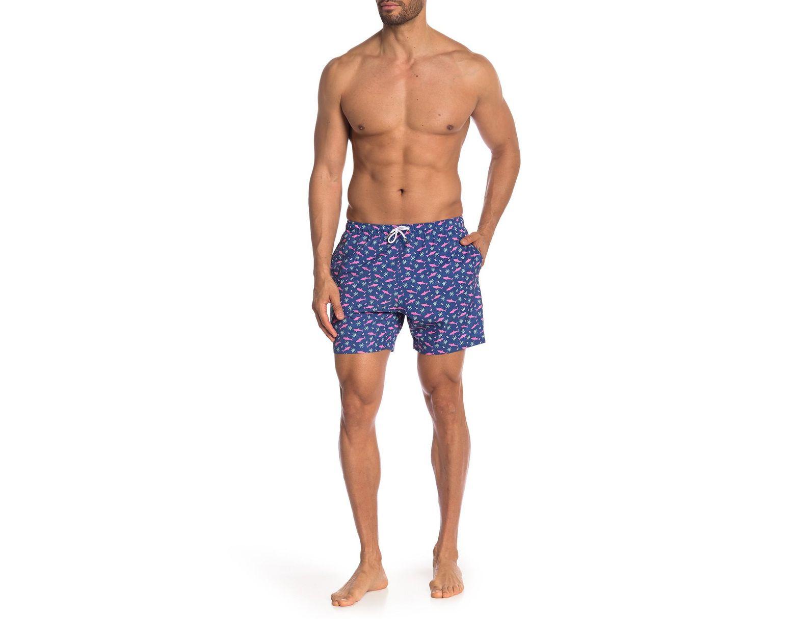 0e504d3561 Bermies Pink Shark Swim Shorts in Blue for Men - Lyst