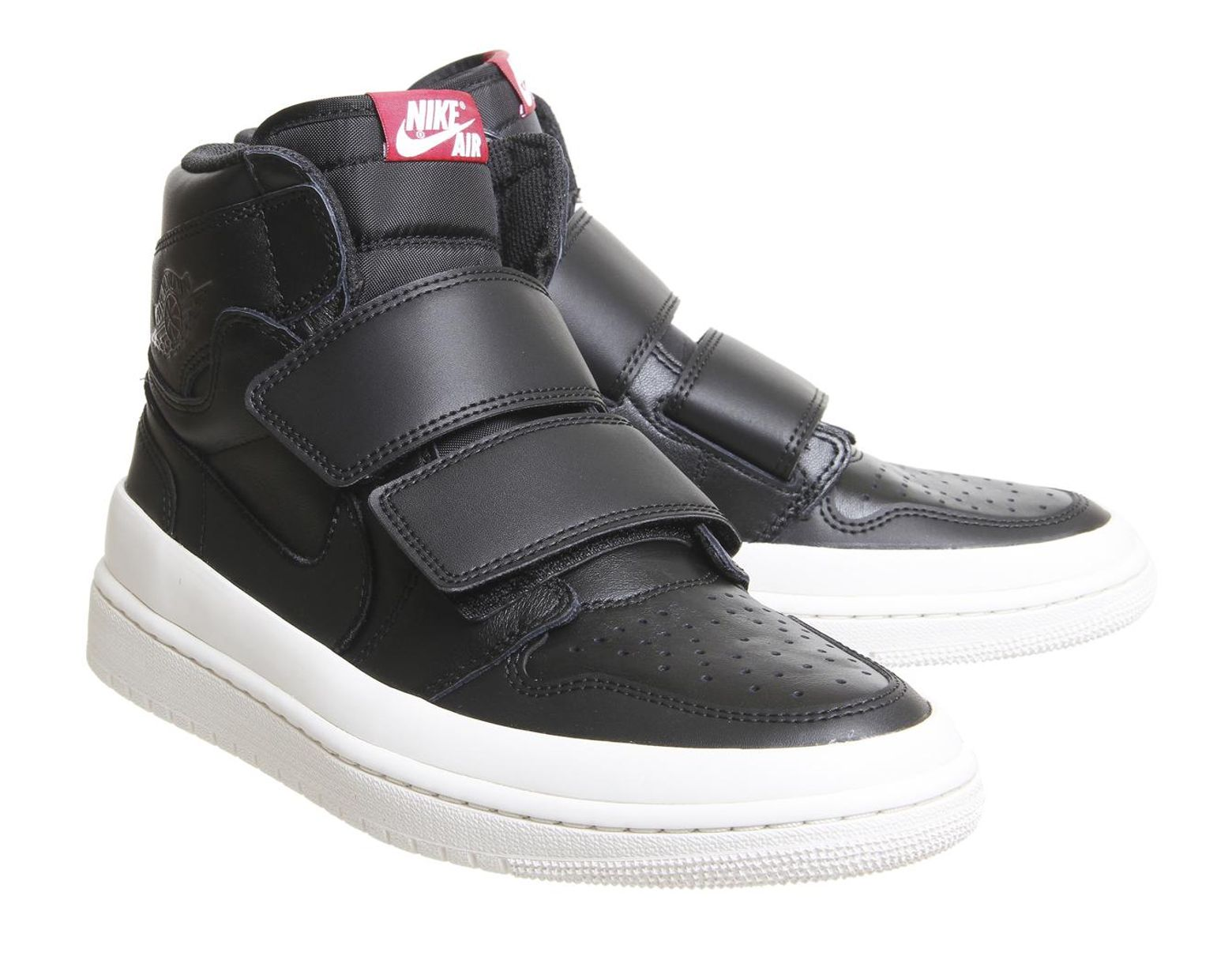 competitive price dff44 e2faf Nike Air 1 Hi Double Strap in Black for Men - Lyst