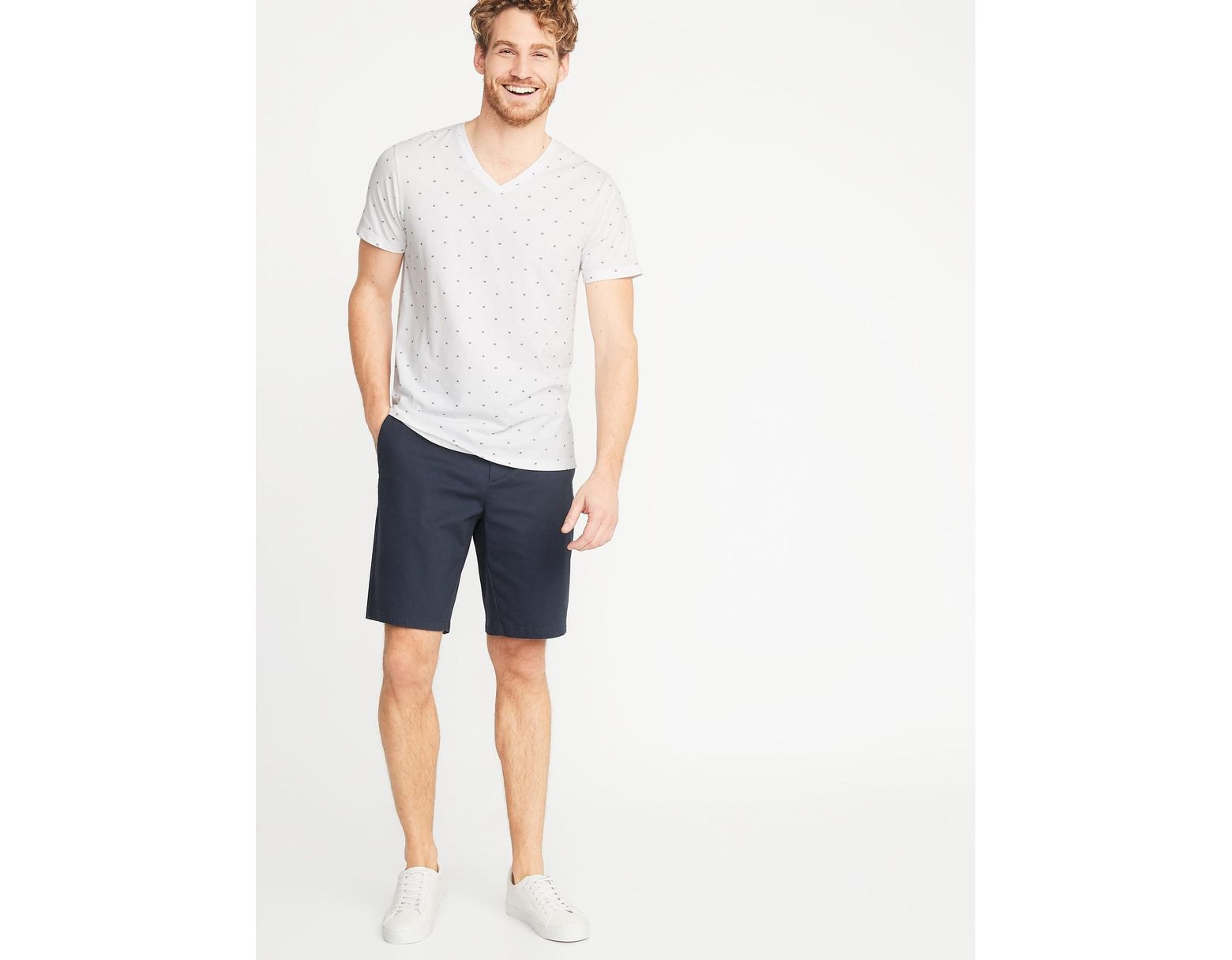 04d7b1f20 Old Navy Soft-washed Printed V-neck Tee for Men - Save 17% - Lyst