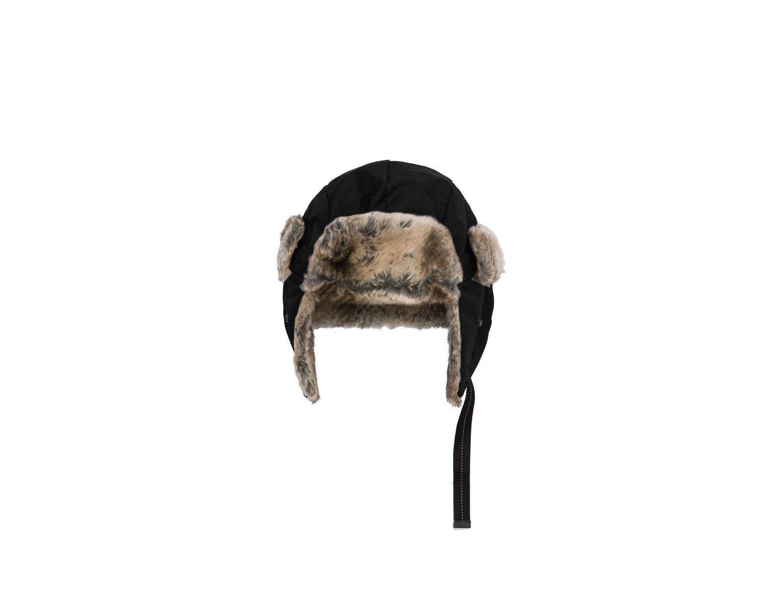 c11bca3fd4f37 Parajumpers Aviator Hat in Black for Men - Lyst