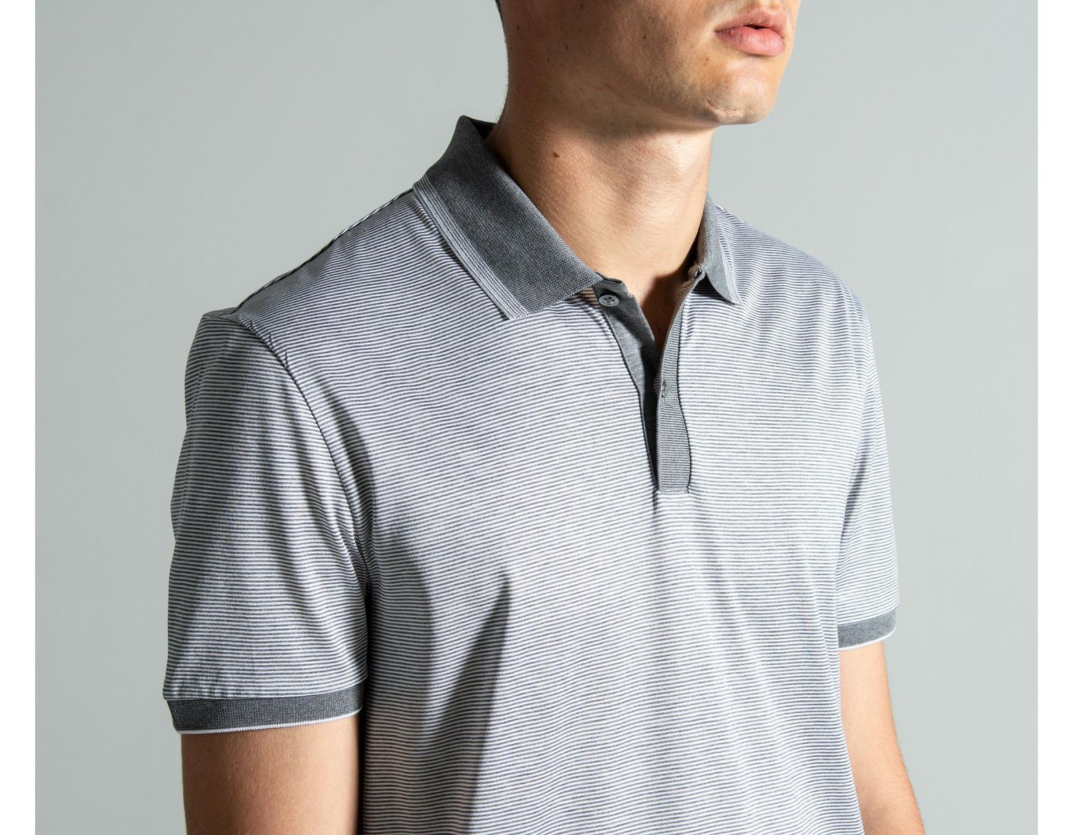 c351b2ddd BOSS 'phillipson 32' Striped Polo Grey in Gray for Men - Lyst