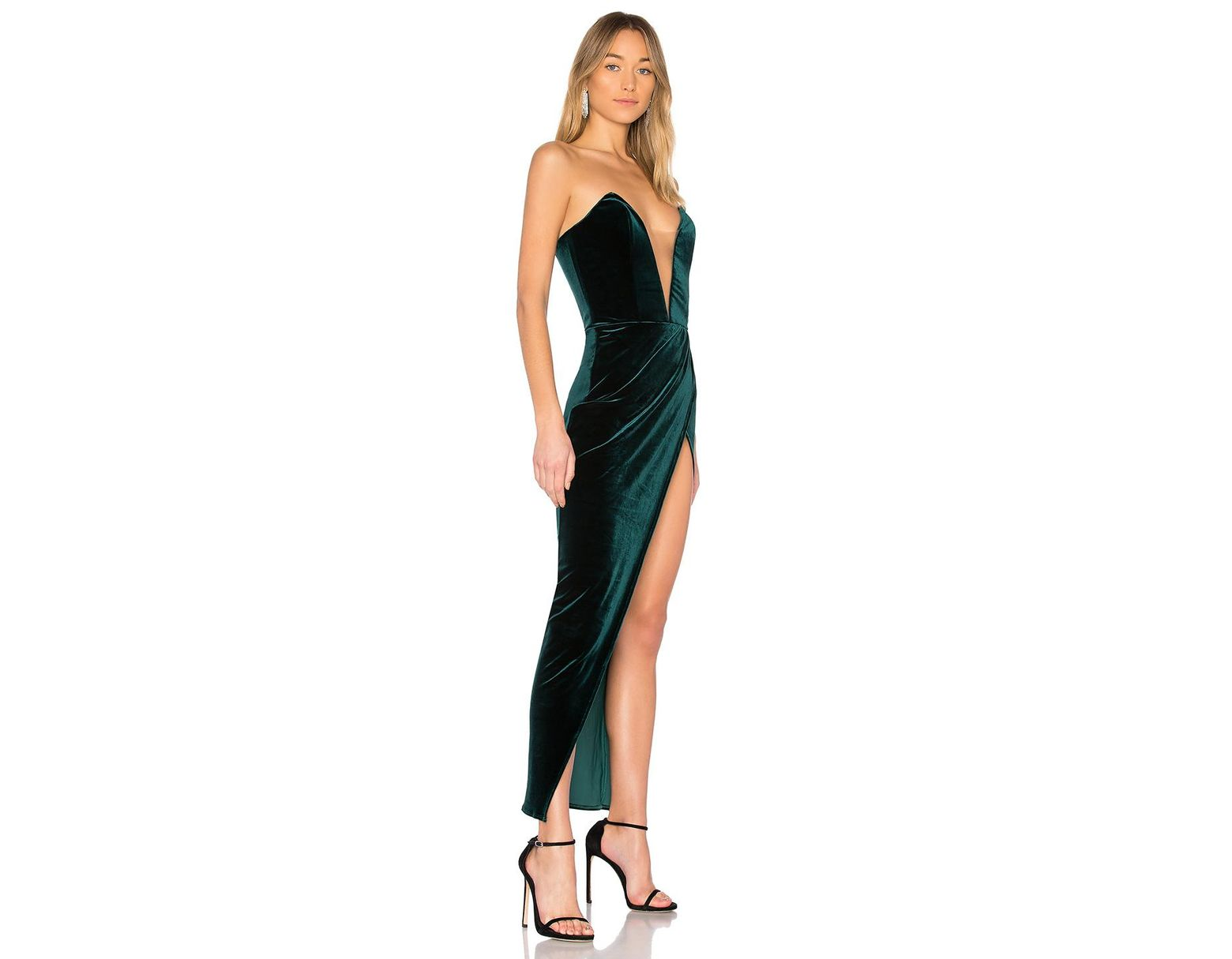 8871c6ff0246 Michael Costello Jake Gown in Green - Lyst