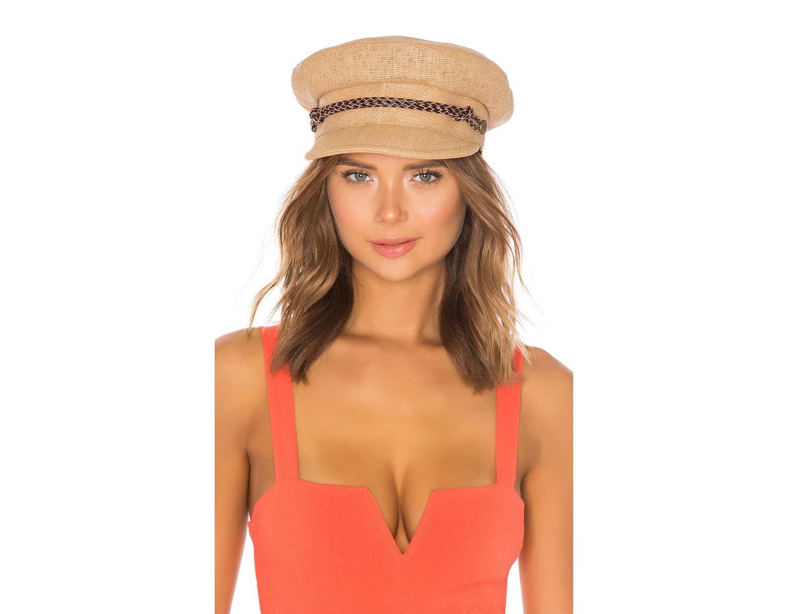 a2925f9f1e38b Lyst - Brixton Kayla Straw Hat