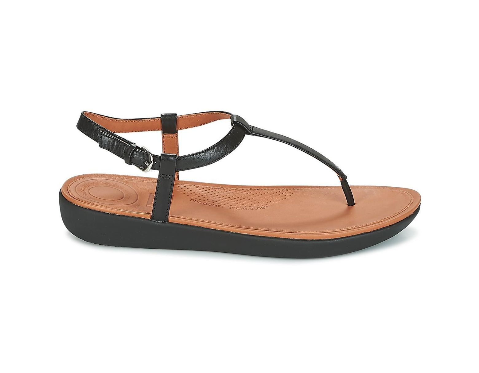 3ad152a7f9c5 Fitflop Tia Toe Thong Sandals Women s Flip Flops   Sandals (shoes) In Black  in Black - Lyst