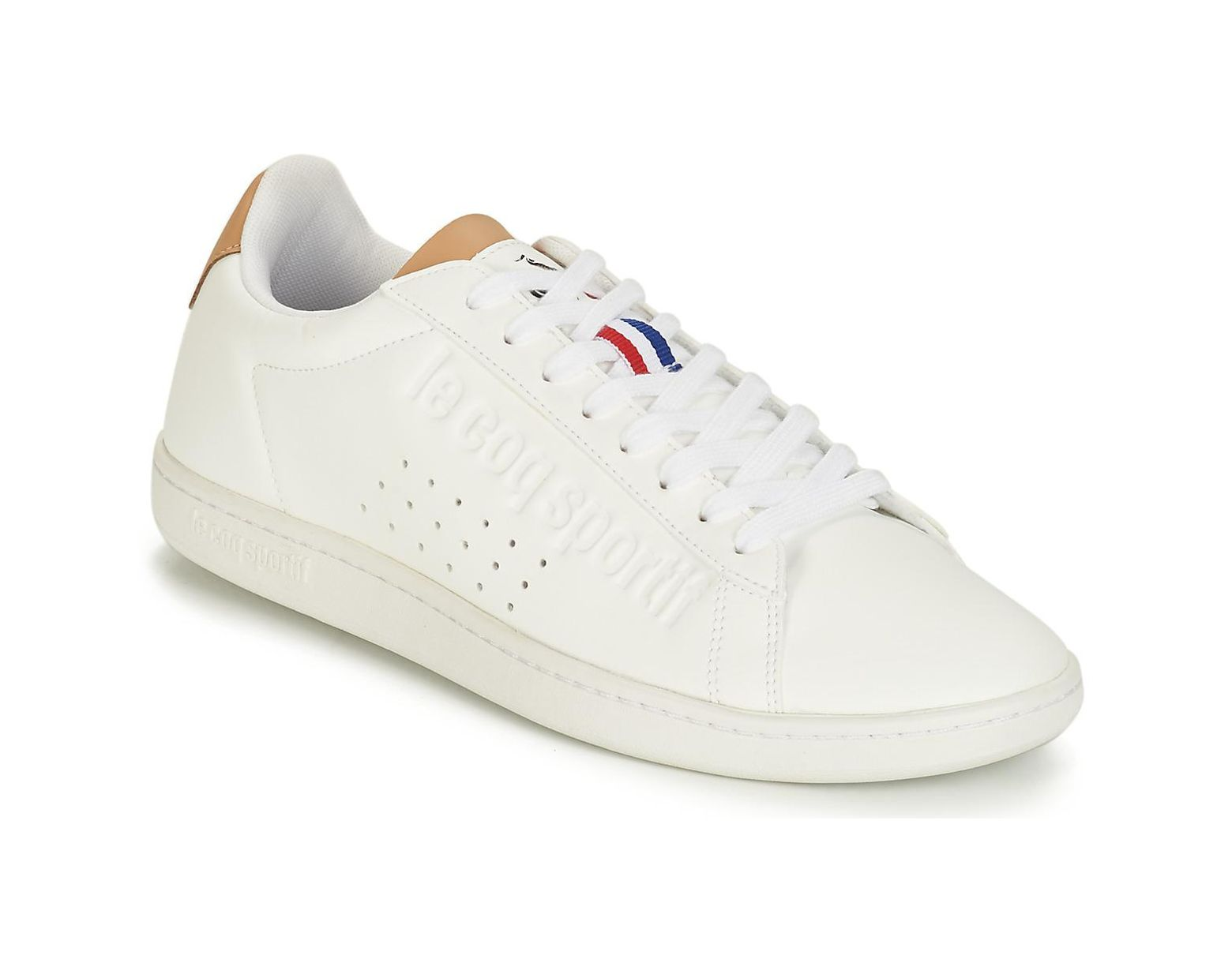 a2eeebc736 Le Coq Sportif Courtset Shoes (trainers) in White for Men - Lyst