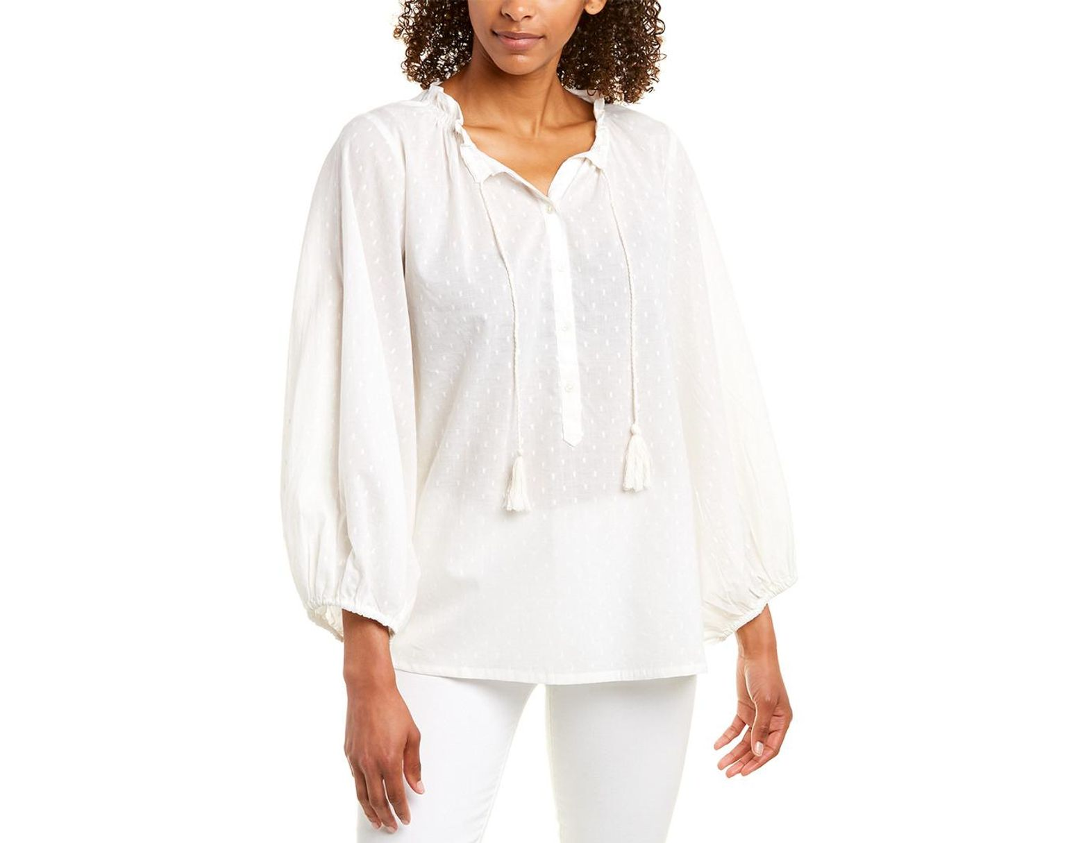 61896db93d4 Emerson Fry India Collection Blouse in White - Lyst