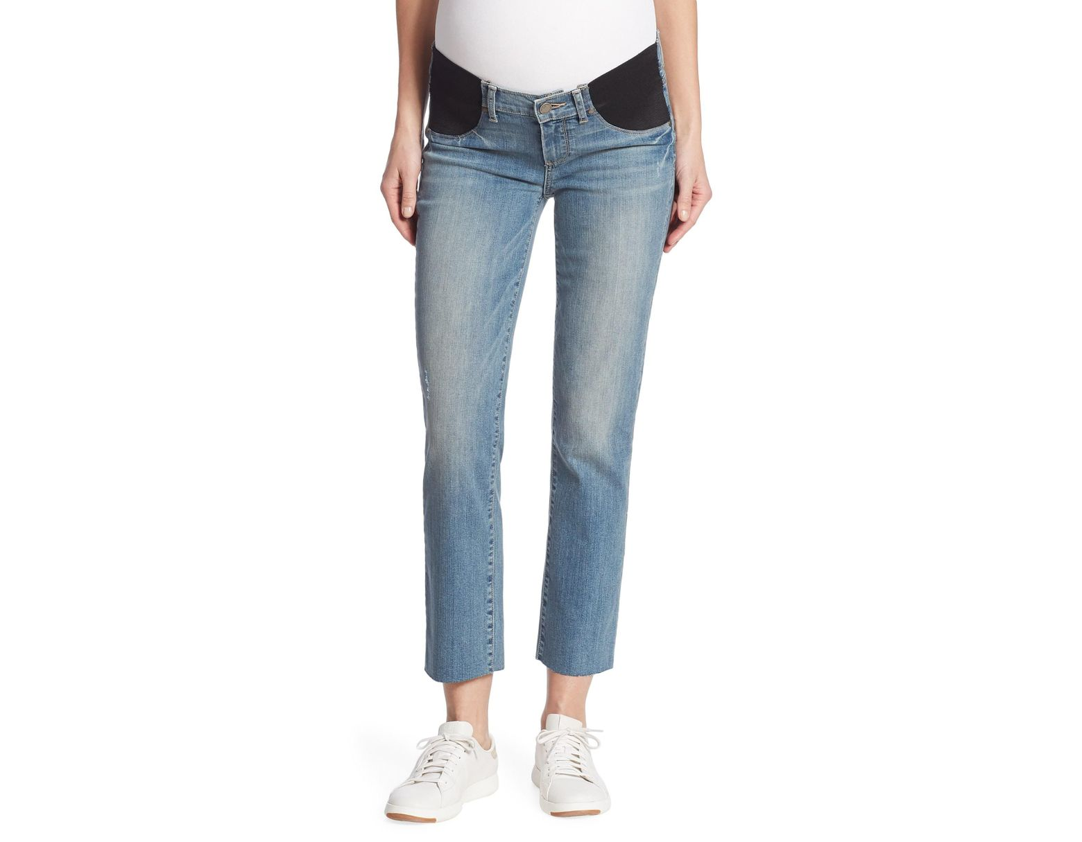 795a60d815c39 PAIGE Women's Miki Straight Leg Maternity Jeans - Big Sur in Blue - Save  63% - Lyst