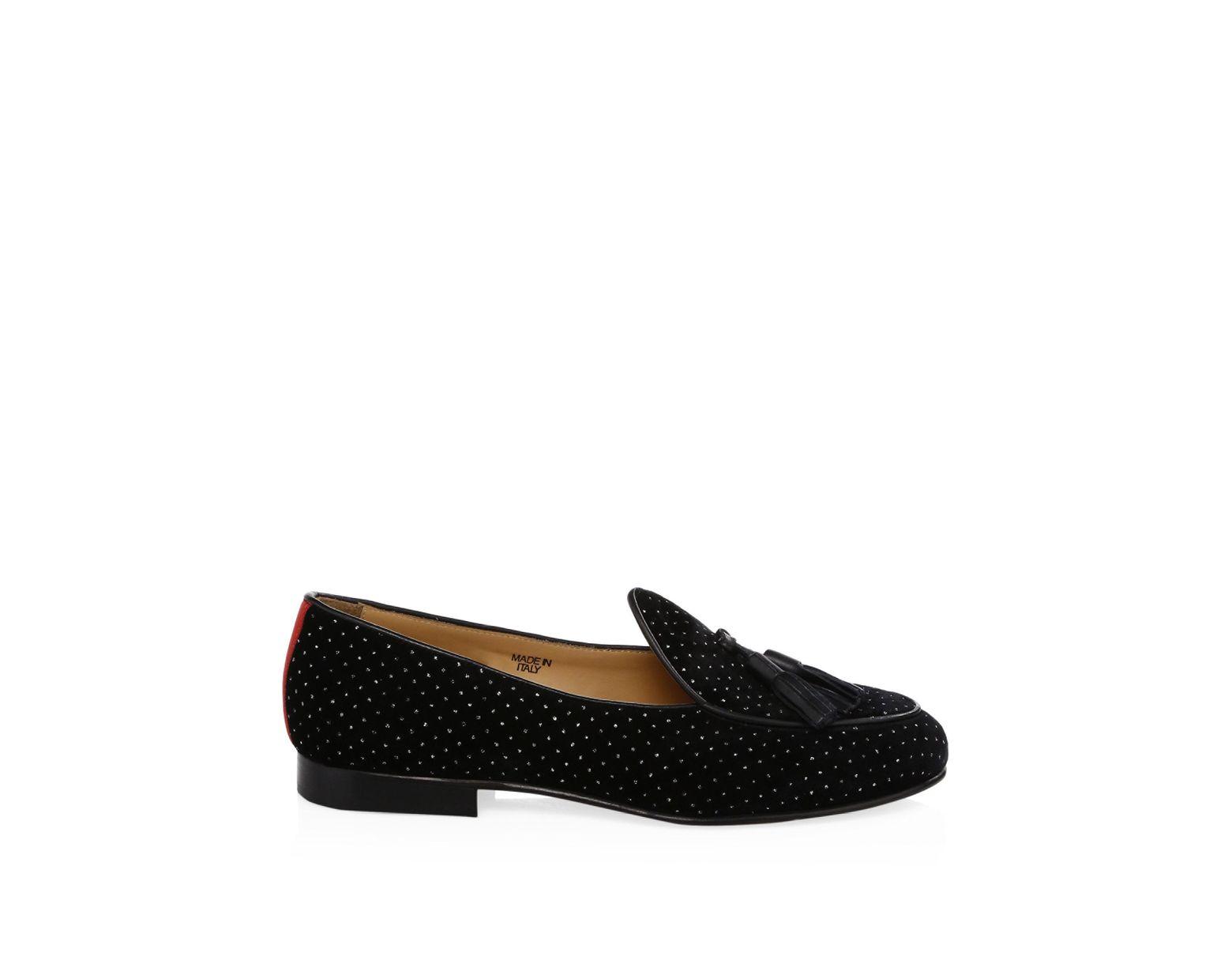 72cc48d56 Del Toro Velvet Tassel Loafers in Black for Men - Lyst