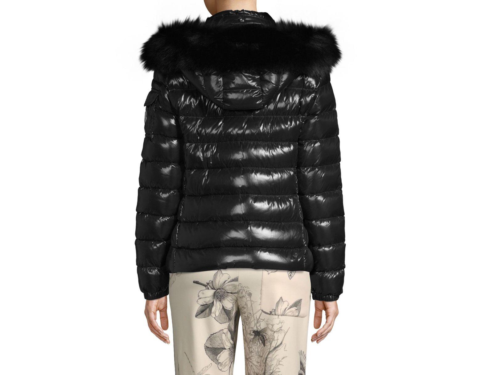 666265e1f Moncler Badyfur Fur-trim Puffer Jacket in Black - Save 13% - Lyst